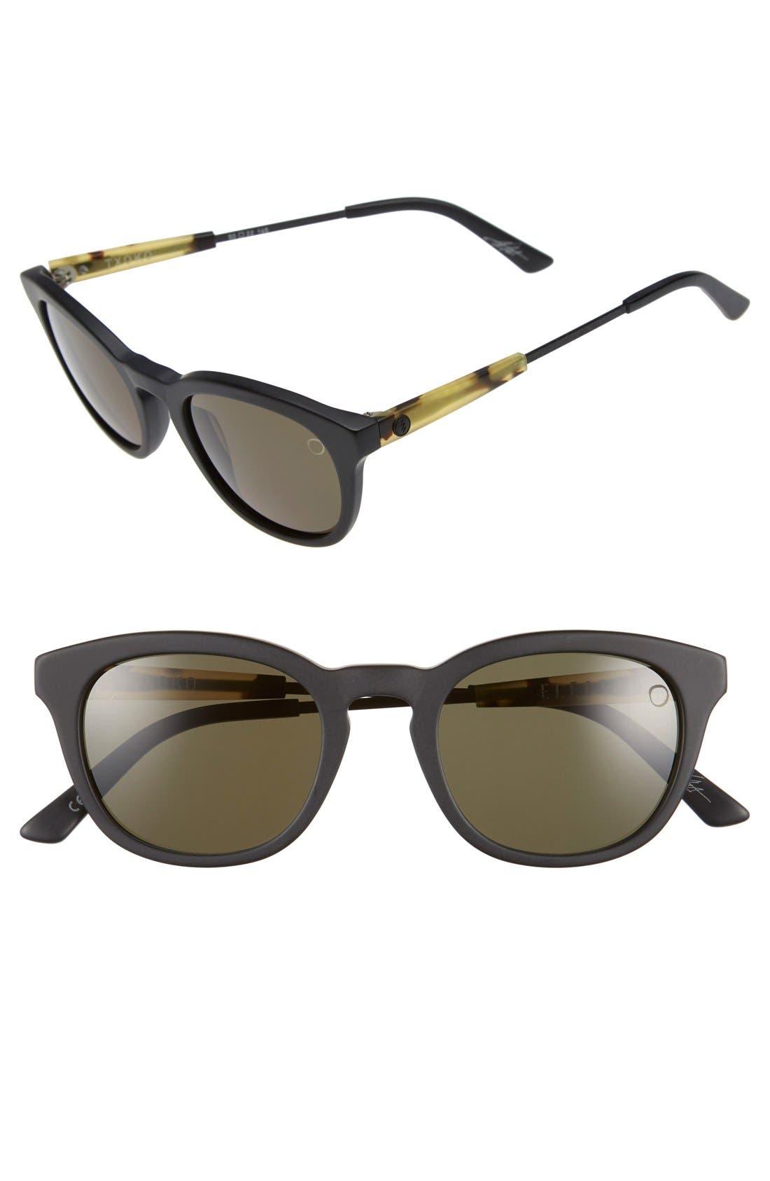 'Txoko' 50mm Sunglasses,                             Main thumbnail 1, color,                             Matte Black Tortoise/ Grey
