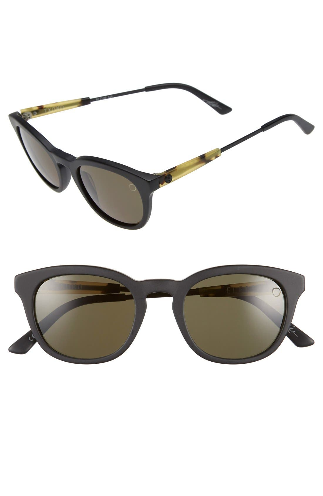 'Txoko' 50mm Sunglasses,                         Main,                         color, Matte Black Tortoise/ Grey