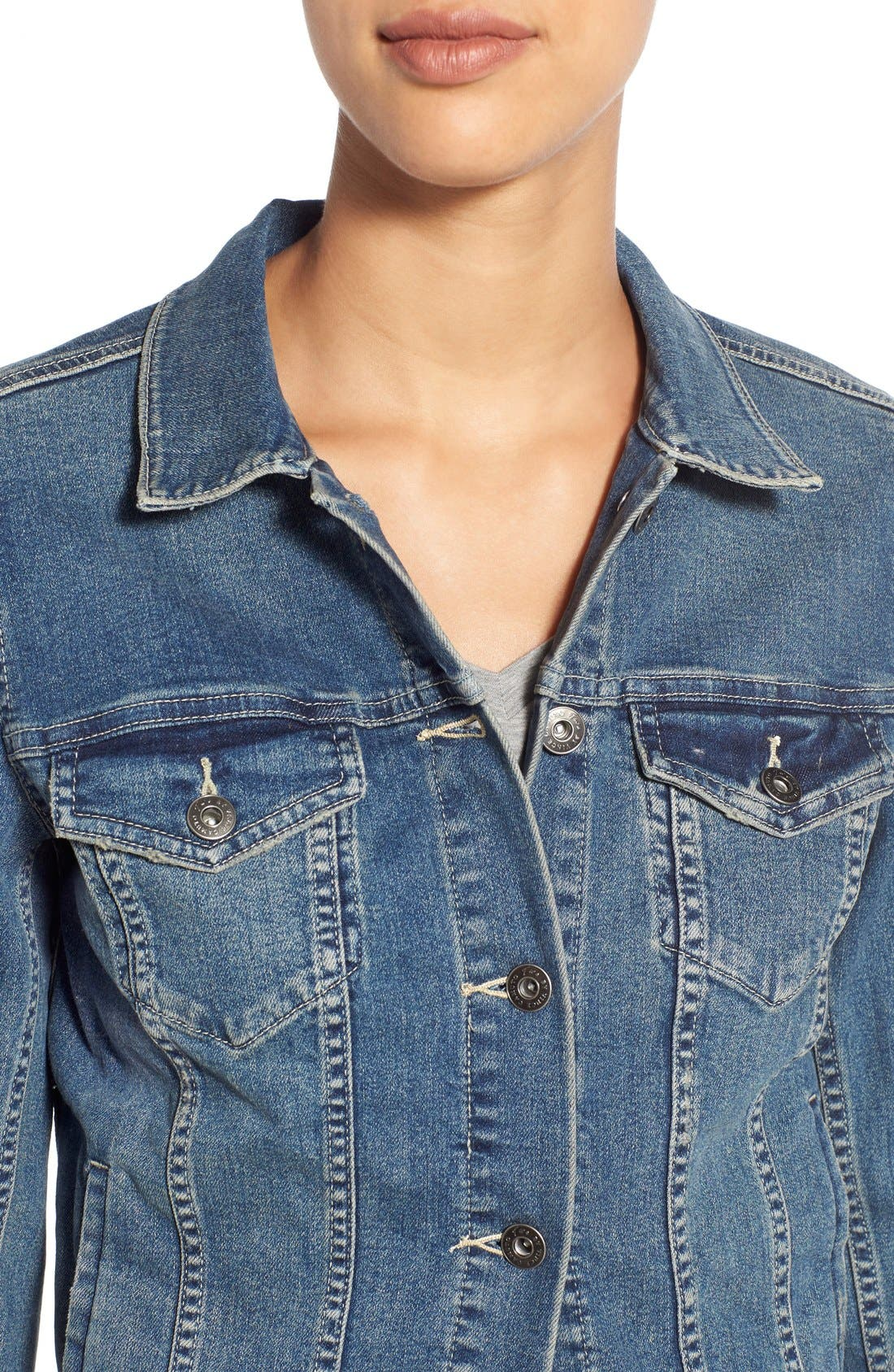 Alternate Image 5  - Two by Vince Camuto Jean Jacket (Regular & Petite)