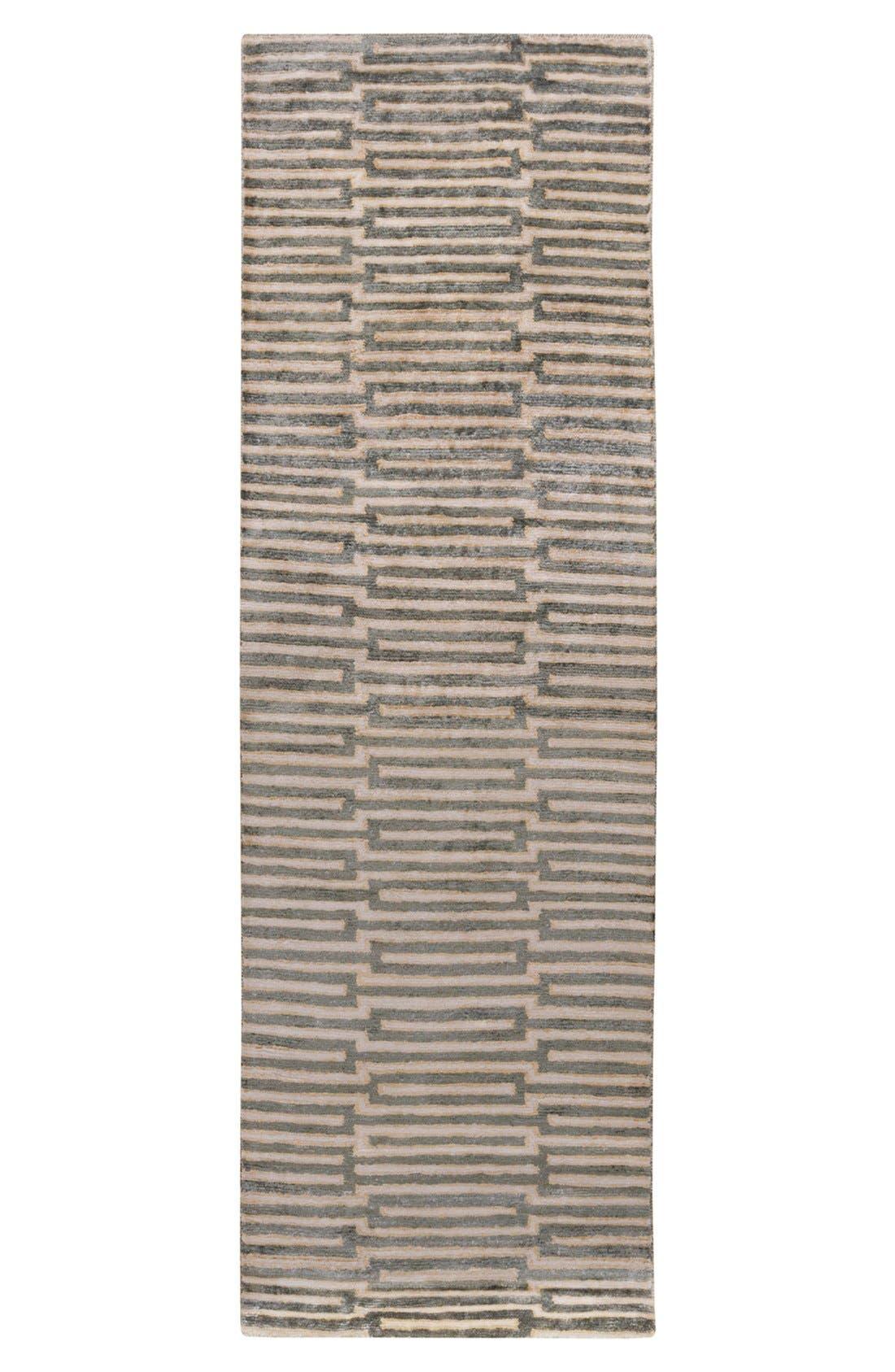 'Platinum' Hand Tufted Rug,                             Alternate thumbnail 3, color,                             Olive/ Beige