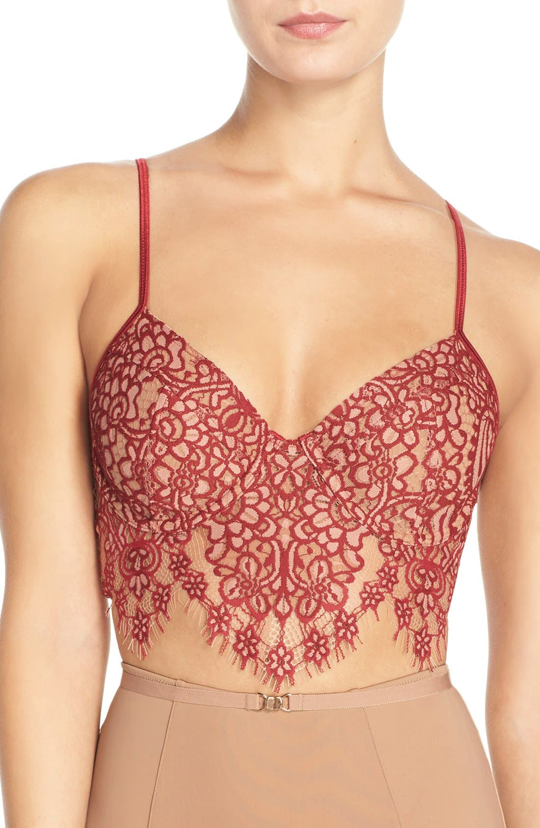 Alternate Image 1 Selected - For Love & Lemons 'Giselle' Underwire Longline Bra
