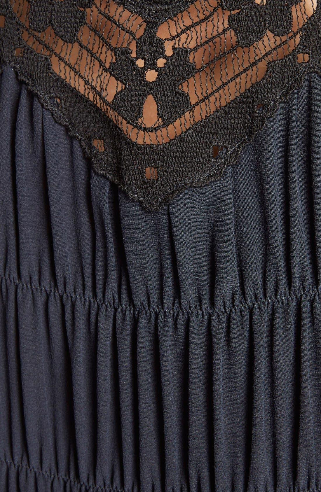 Alternate Image 3  - Chloé Smocked Scalloped Lace Trim Silk Dress
