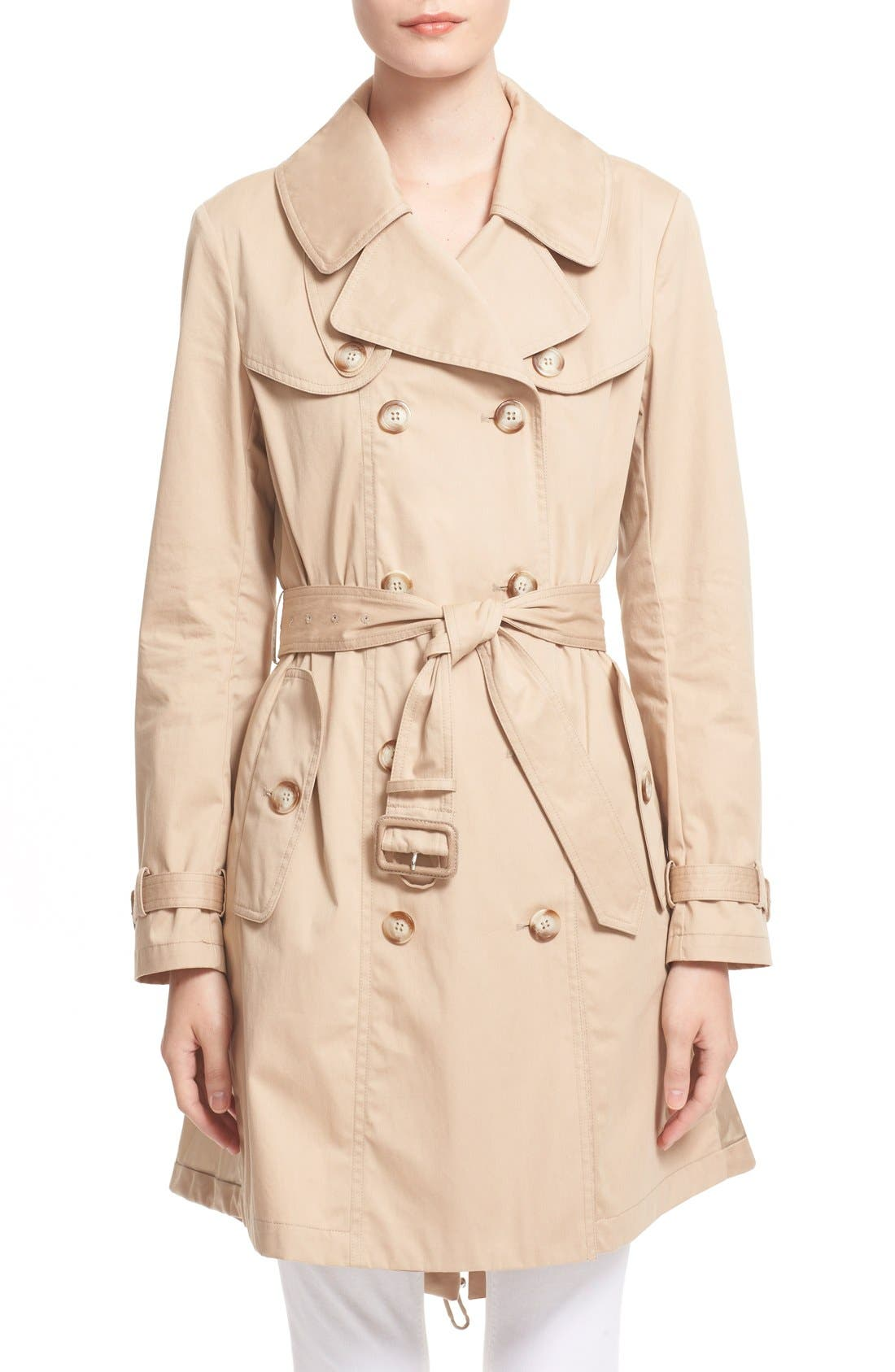 Alternate Image 1 Selected - Moncler 'Bavarelle' Water Resistant Trench Coat