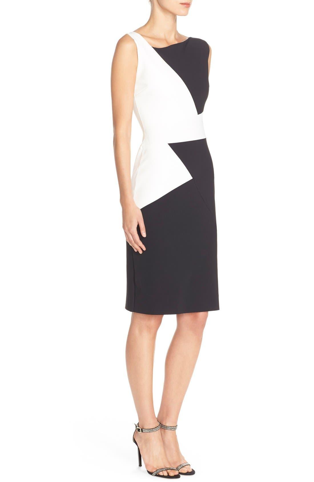Alternate Image 3  - Chiara Boni La Petite Robe 'Giustina' Colorblock Jersey Sheath Dress