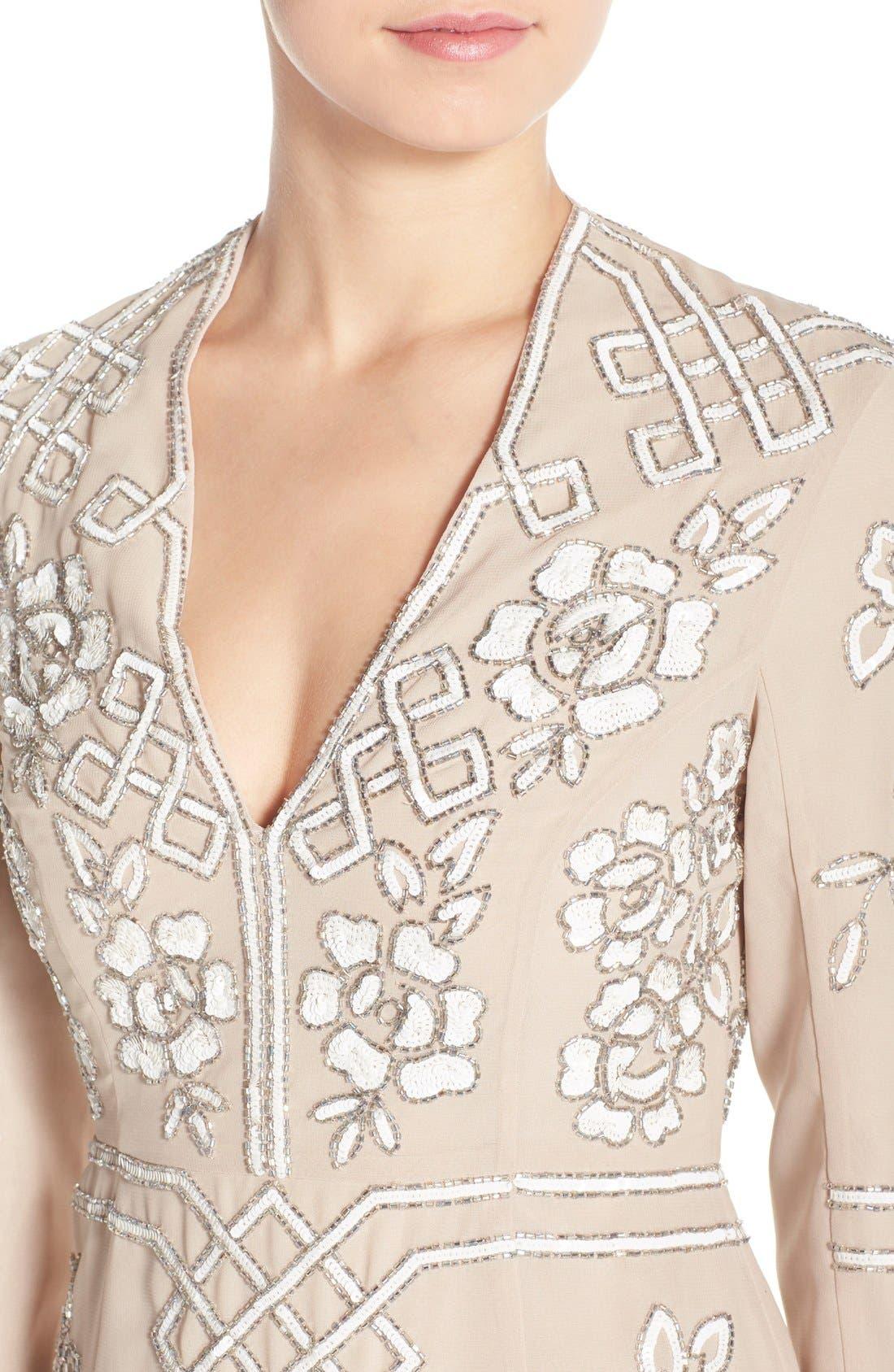 Alternate Image 5  - Needle & Thread Embellished Long Sleeve Minidress