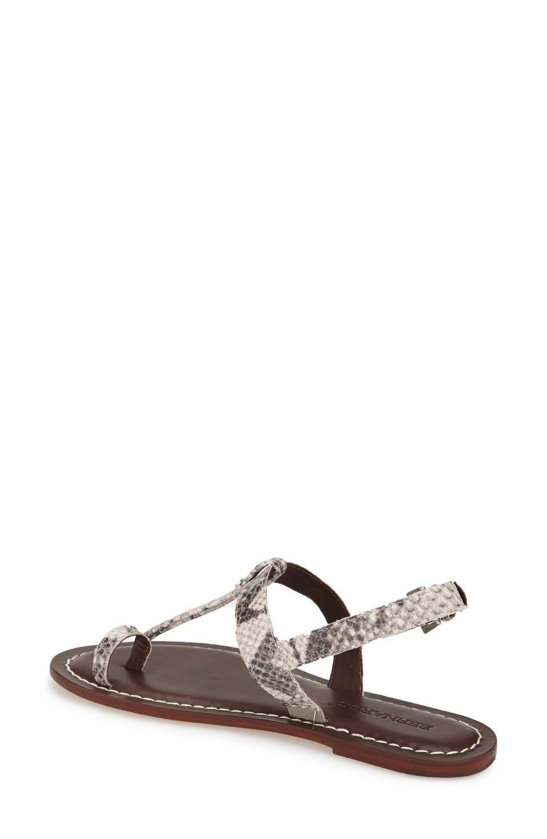 Bernardo Maverick Leather Sandal,                             Alternate thumbnail 2, color,                             Taupe Snake Print