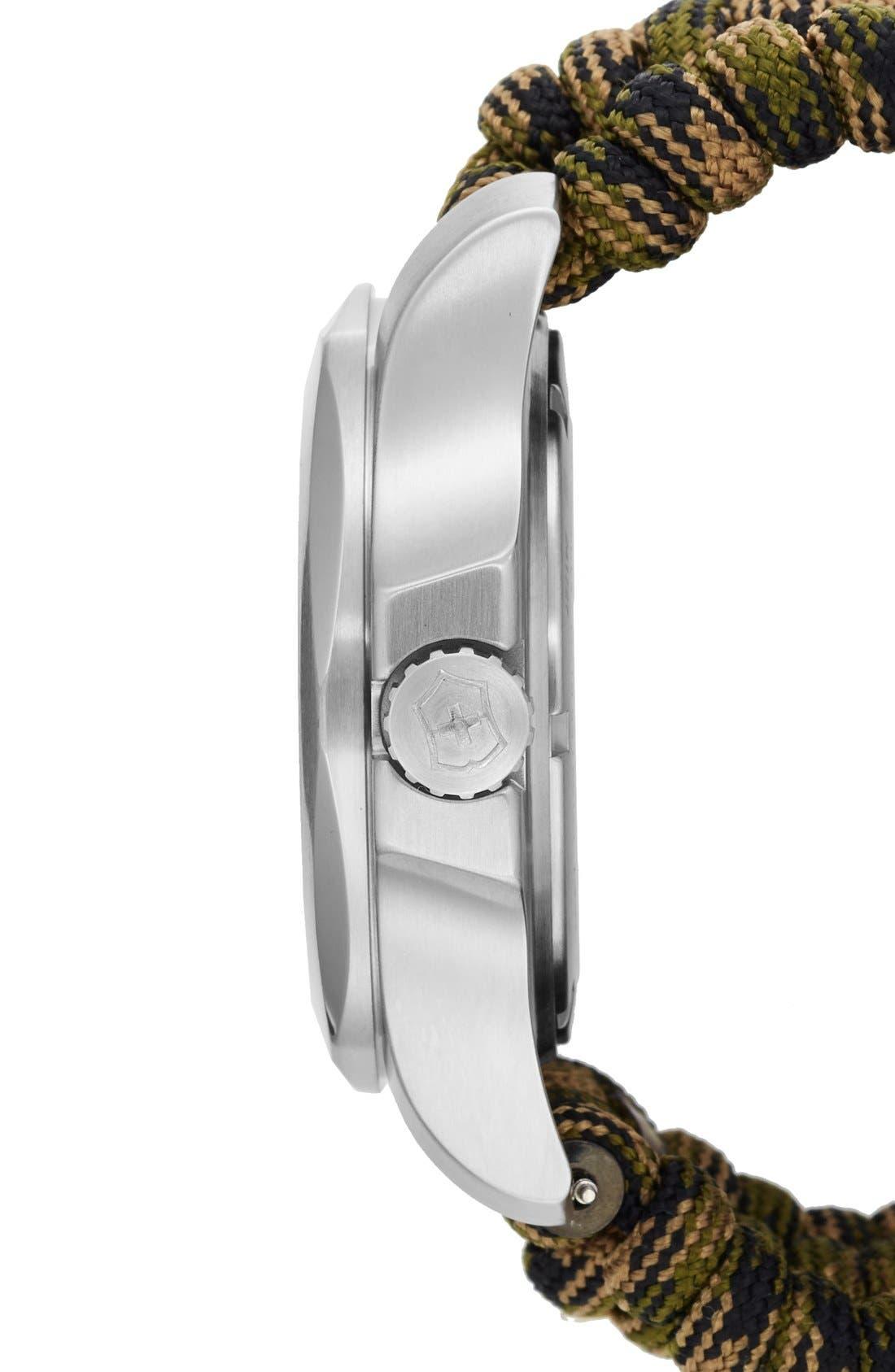 Alternate Image 3  - Victorinox Swiss Army® 'I.N.O.X.' Paracord Strap Watch, 43mm