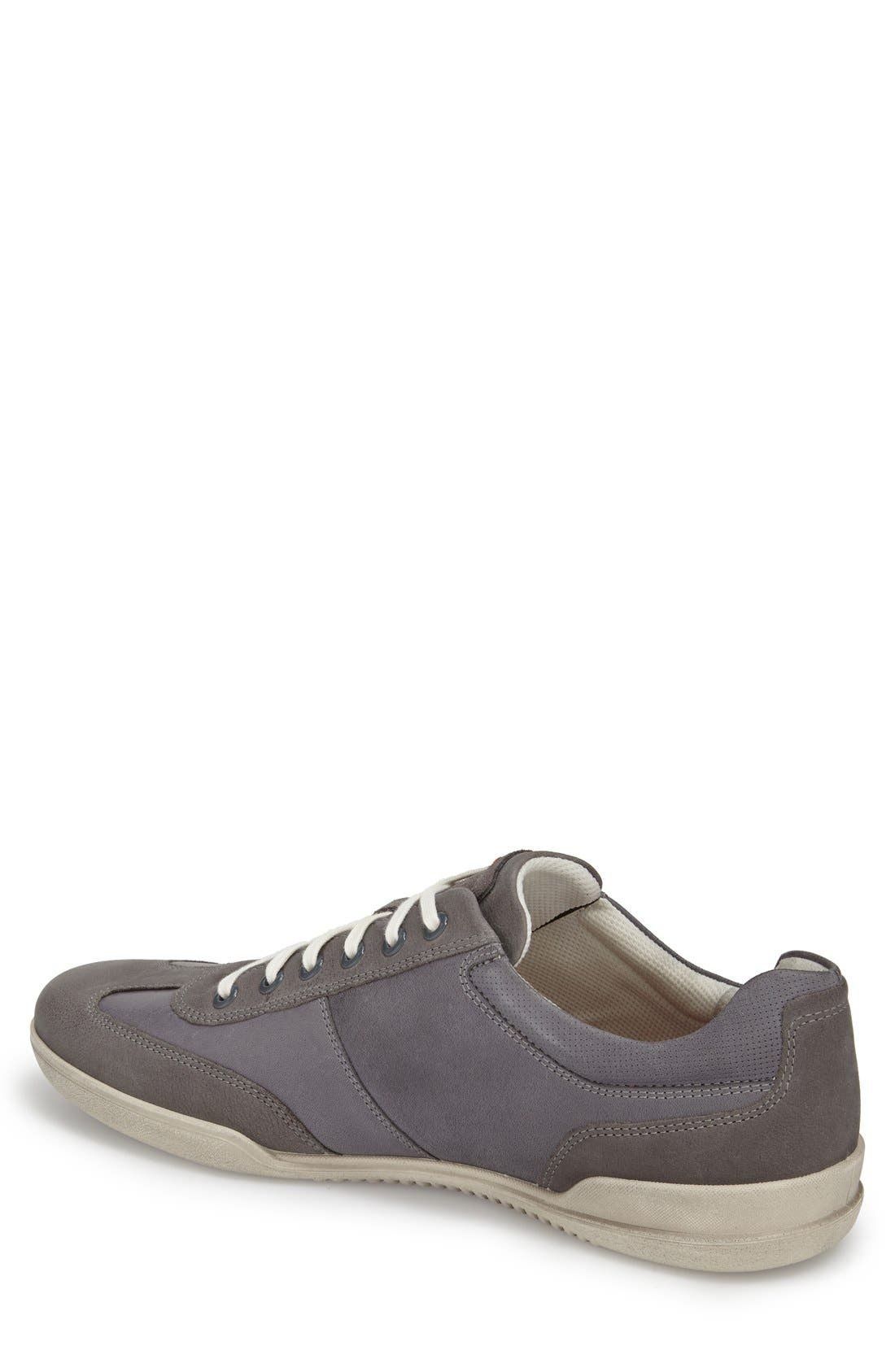 'Enrico' Sneaker,                             Alternate thumbnail 2, color,                             Moonless Leather