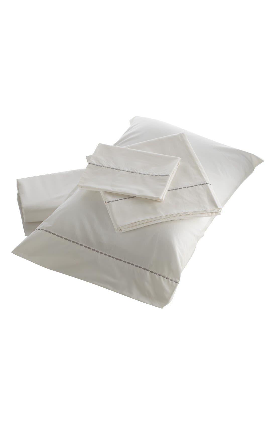 'Portland' 200 Thread Count Organic Cotton Sheet Set,                             Main thumbnail 1, color,                             White