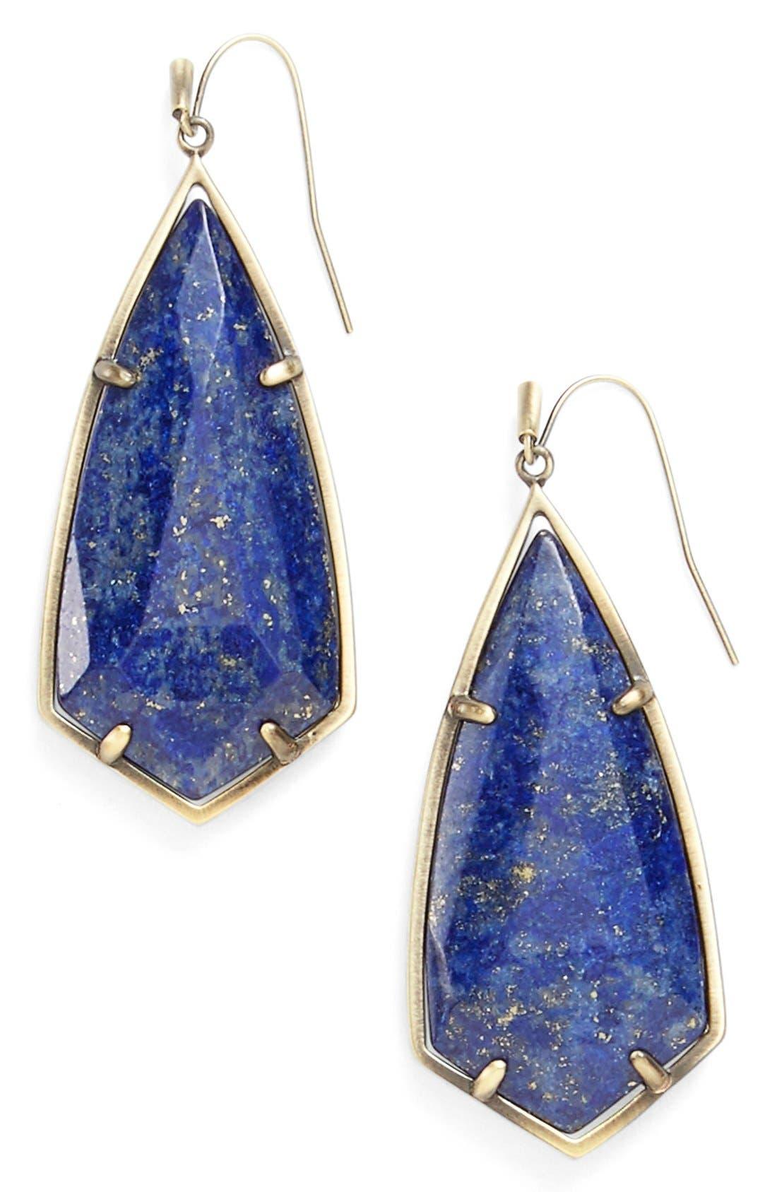 Alternate Image 1 Selected - Kendra Scott 'Caroline' Semiprecious Stone Drop Earrings