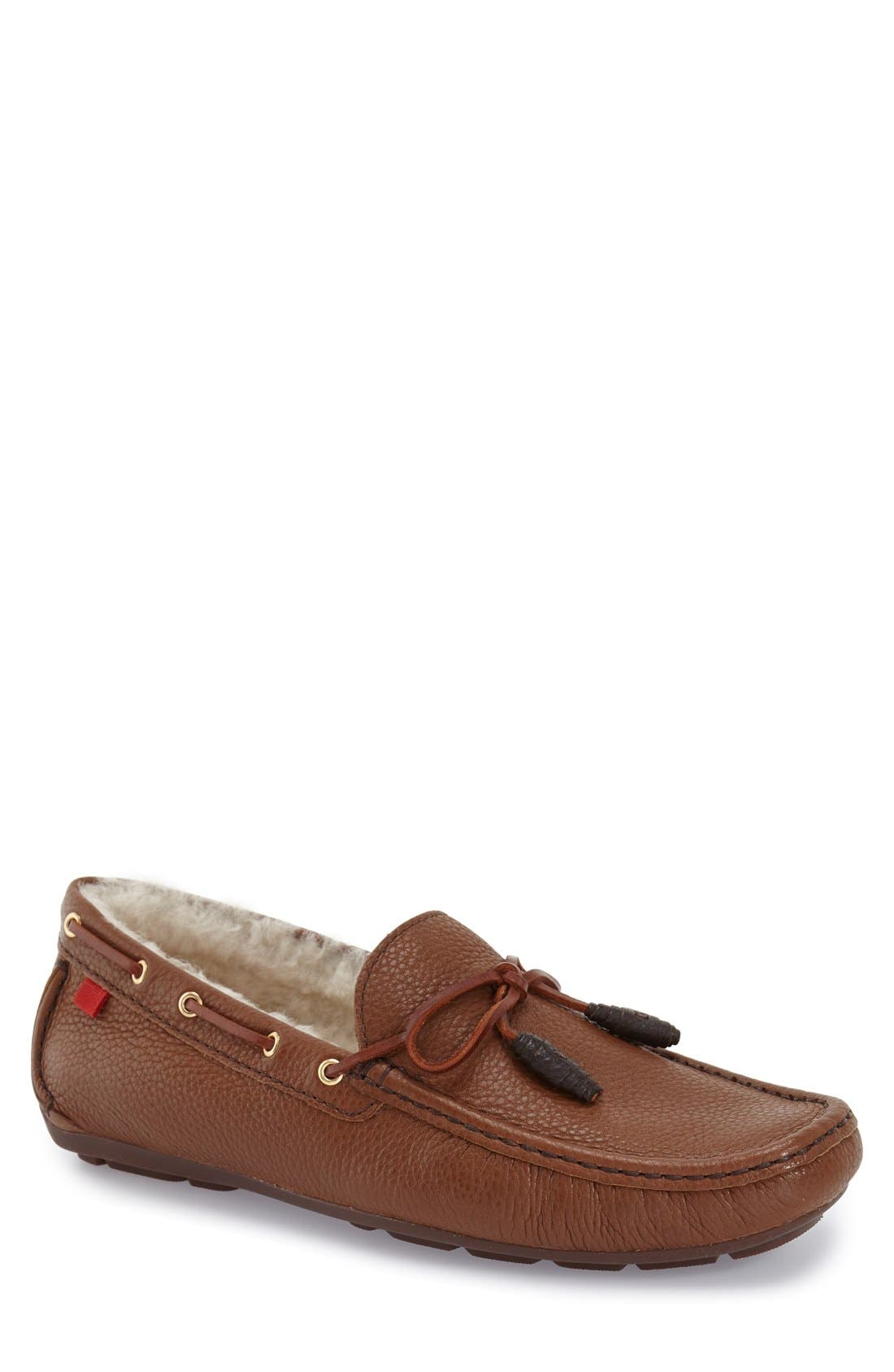 Marc Joseph New York 'Rockefeller' Genuine Shearling Lined Driving Shoe (Men)