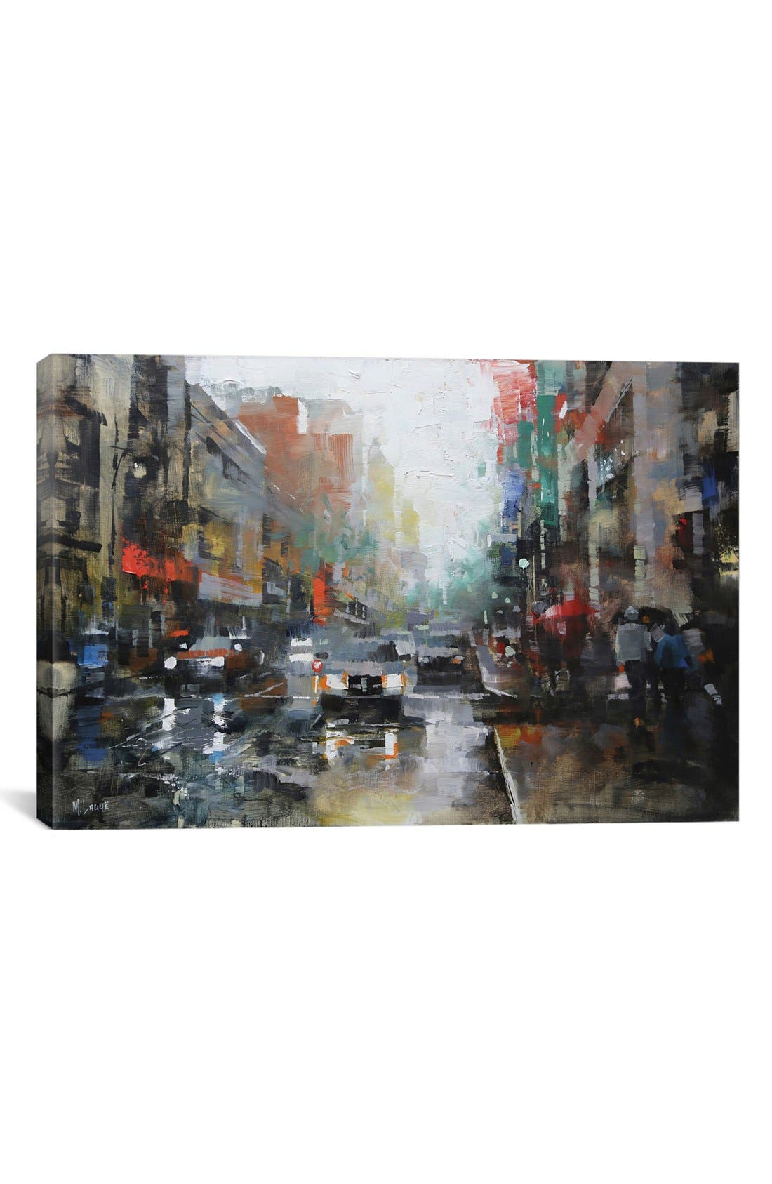 Alternate Image 1 Selected - iCanvas 'Montreal Rain' Giclée Print Canvas Art