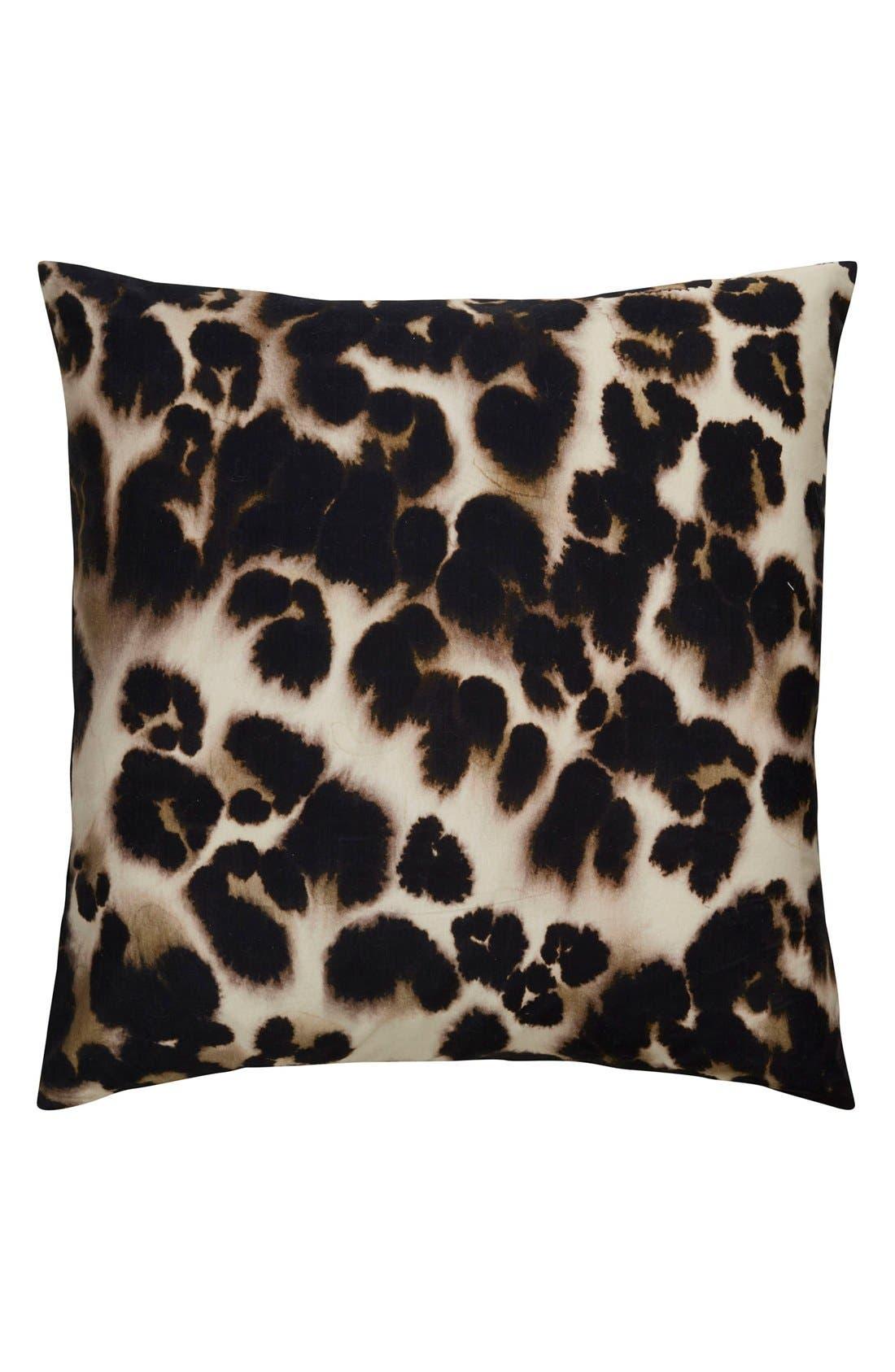 'En Casa' Pillow,                         Main,                         color, Black/ Brown