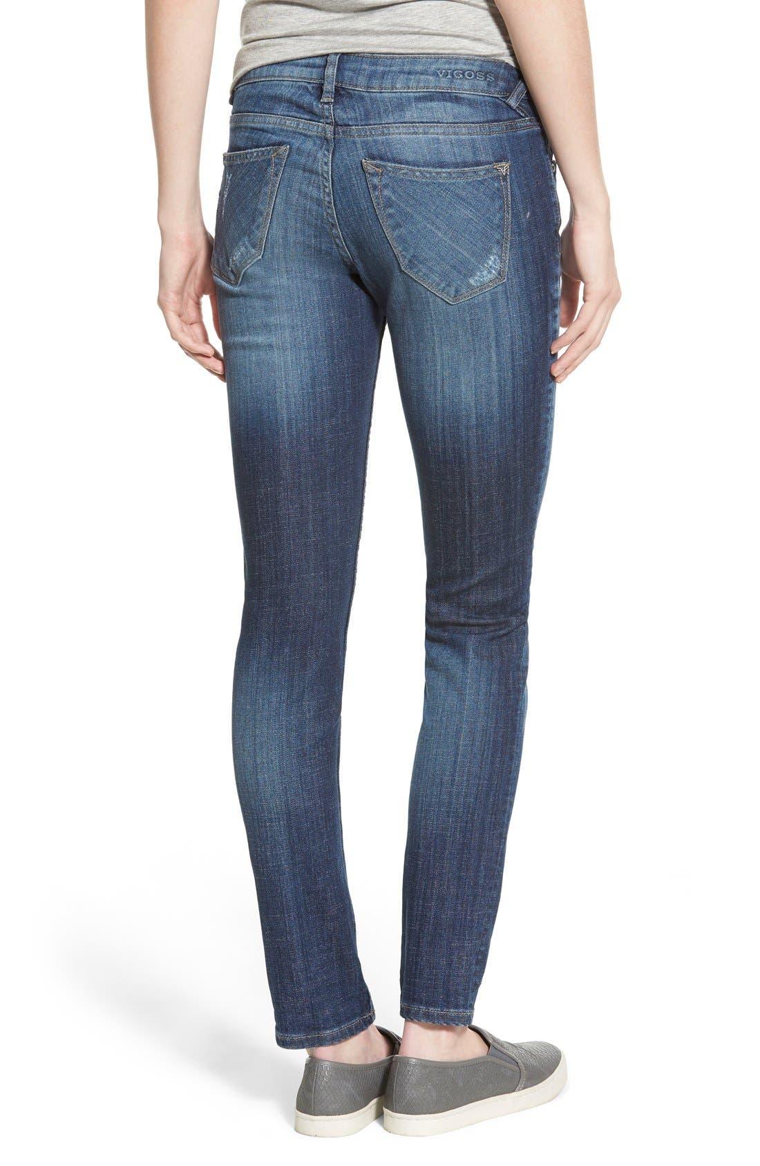 Alternate Image 3  - Vigoss 'Tomboy' Destroyed Skinny Jeans