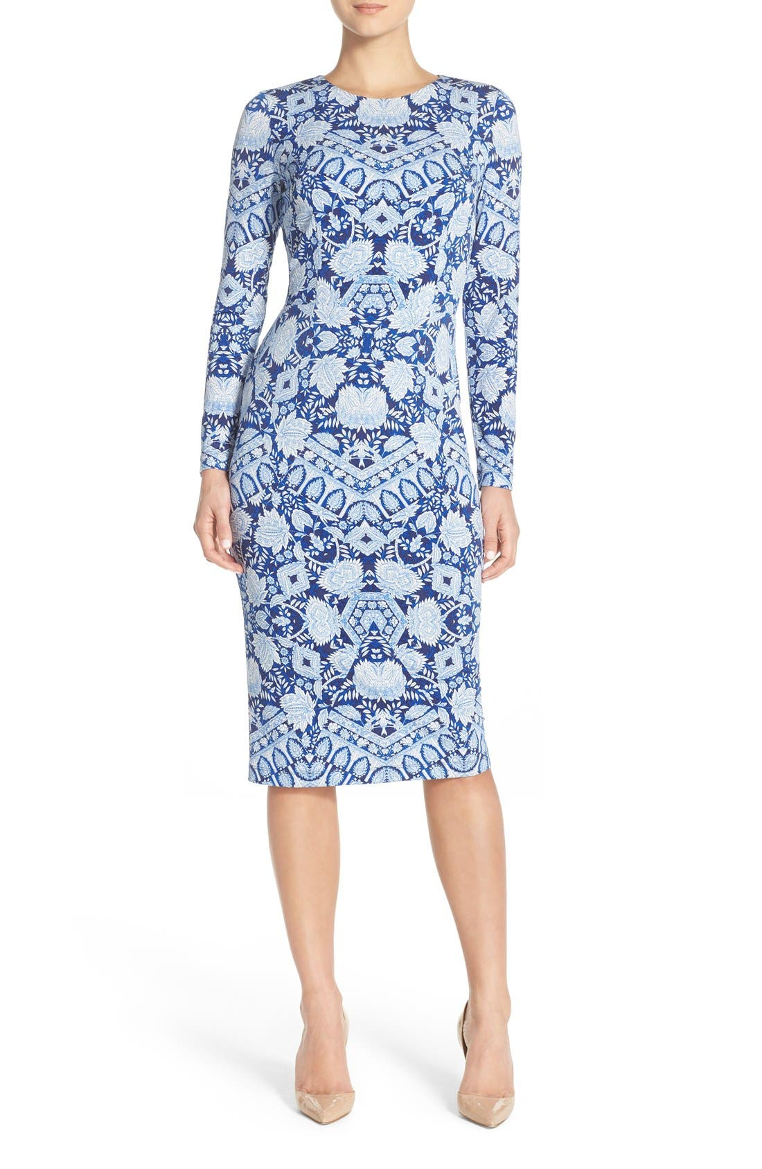 Alternate Image 1 Selected - Maggy London Print Jersey Midi Dress