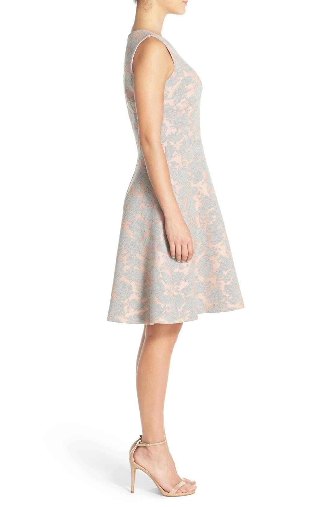 Alternate Image 3  - Maggy London Burnout Jersey Fit & Flare Dress (Regular & Petite)