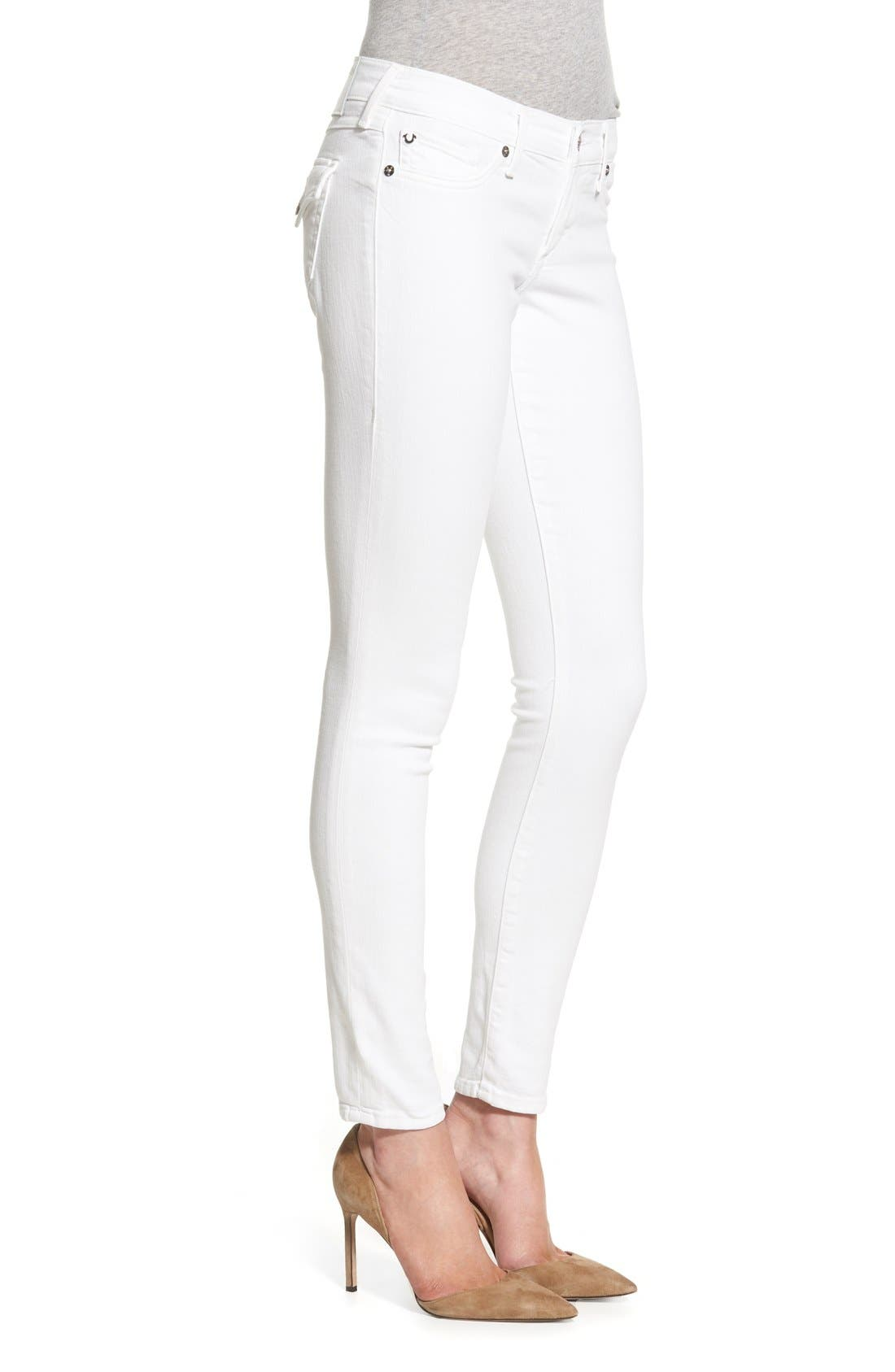 Alternate Image 3  - True Religion Brand Jeans 'Casey' Flap Pocket Skinny Jeans (Optic White)