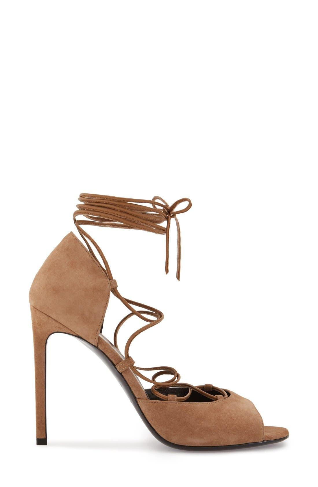 Alternate Image 4  - Saint Laurent 'Kate' Lace-Up Sandal (Women)