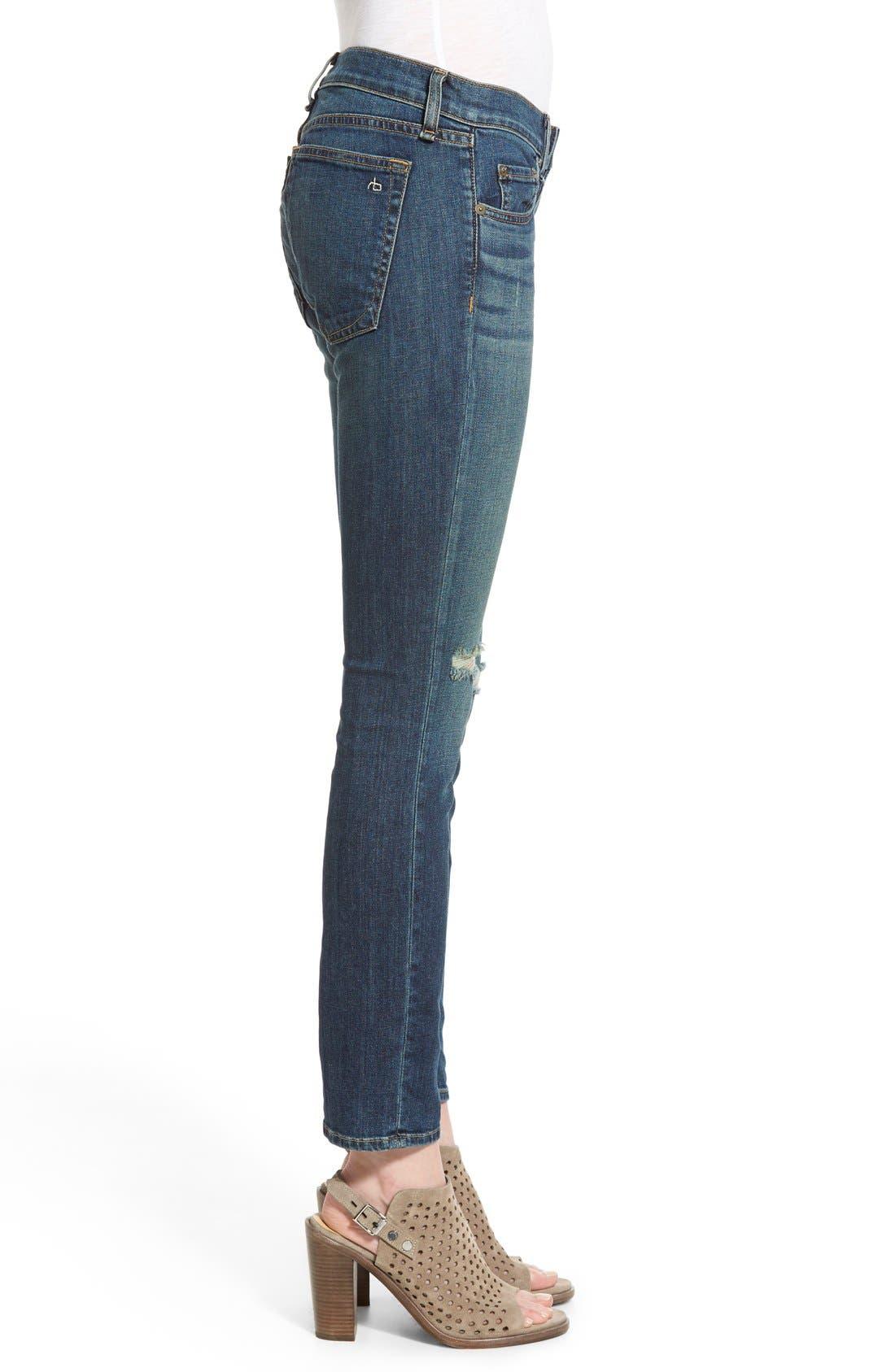 Alternate Image 3  - rag & bone/JEAN 'Tomboy' Boyfriend Skinny Jeans (Burnley)