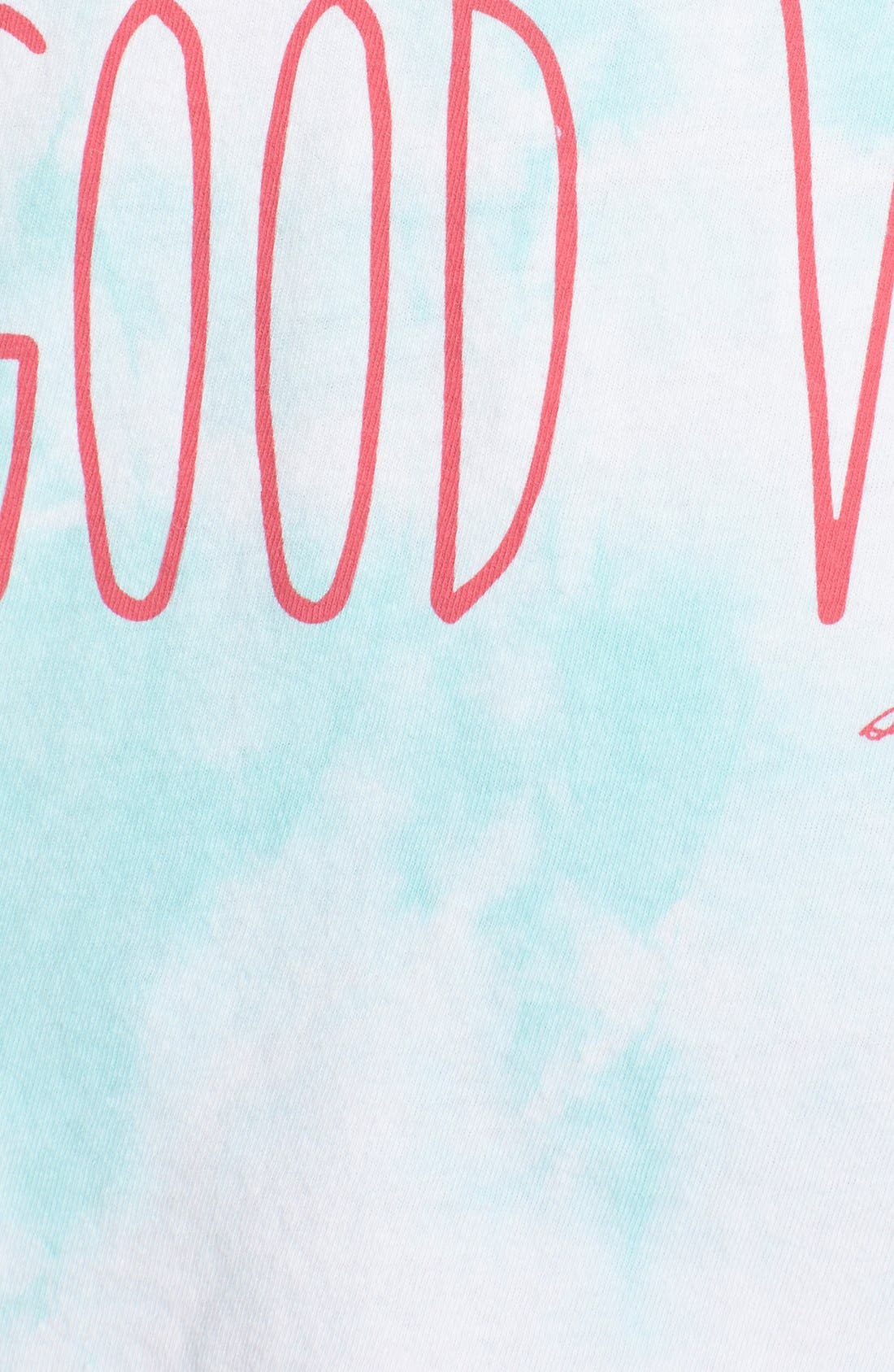 'Good Vibes All Day' Muscle Tee,                             Alternate thumbnail 5, color,                             Skywash