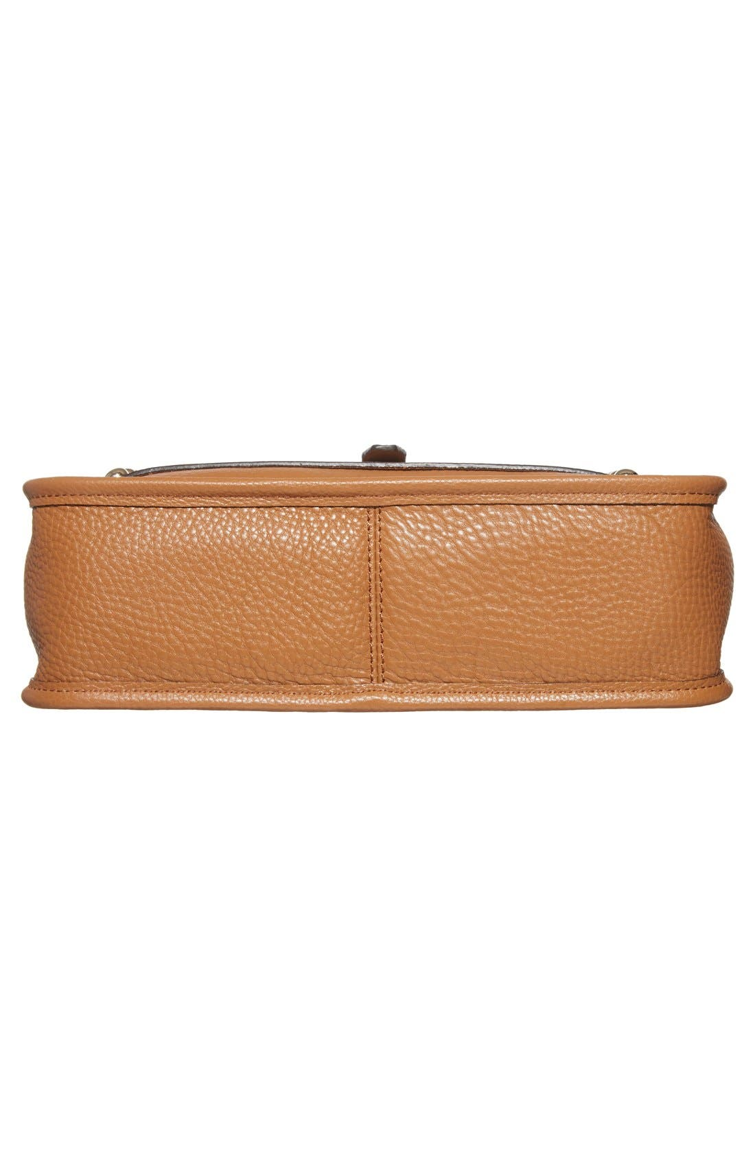 Unlined Feed Bag,                             Alternate thumbnail 6, color,                             Almond/ Light Gold Hrdwr