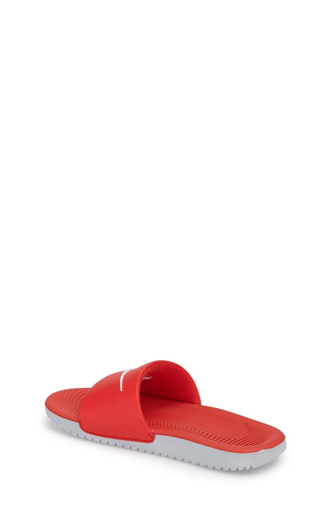 'Kawa' Slide Sandal,                             Alternate thumbnail 2, color,                             University Red/ White