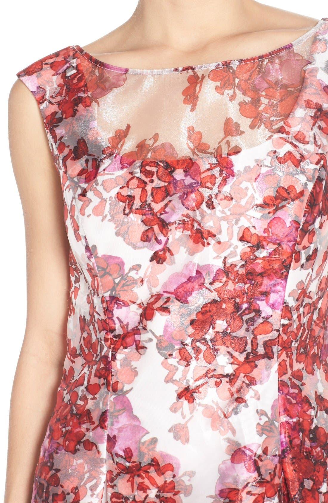 Alternate Image 4  - Aidan Mattox Organza Overlay Fit & Flare Dress