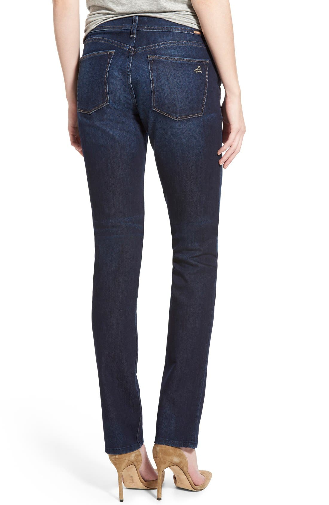 'Coco' Curvy Straight Jeans,                             Alternate thumbnail 2, color,                             Solo