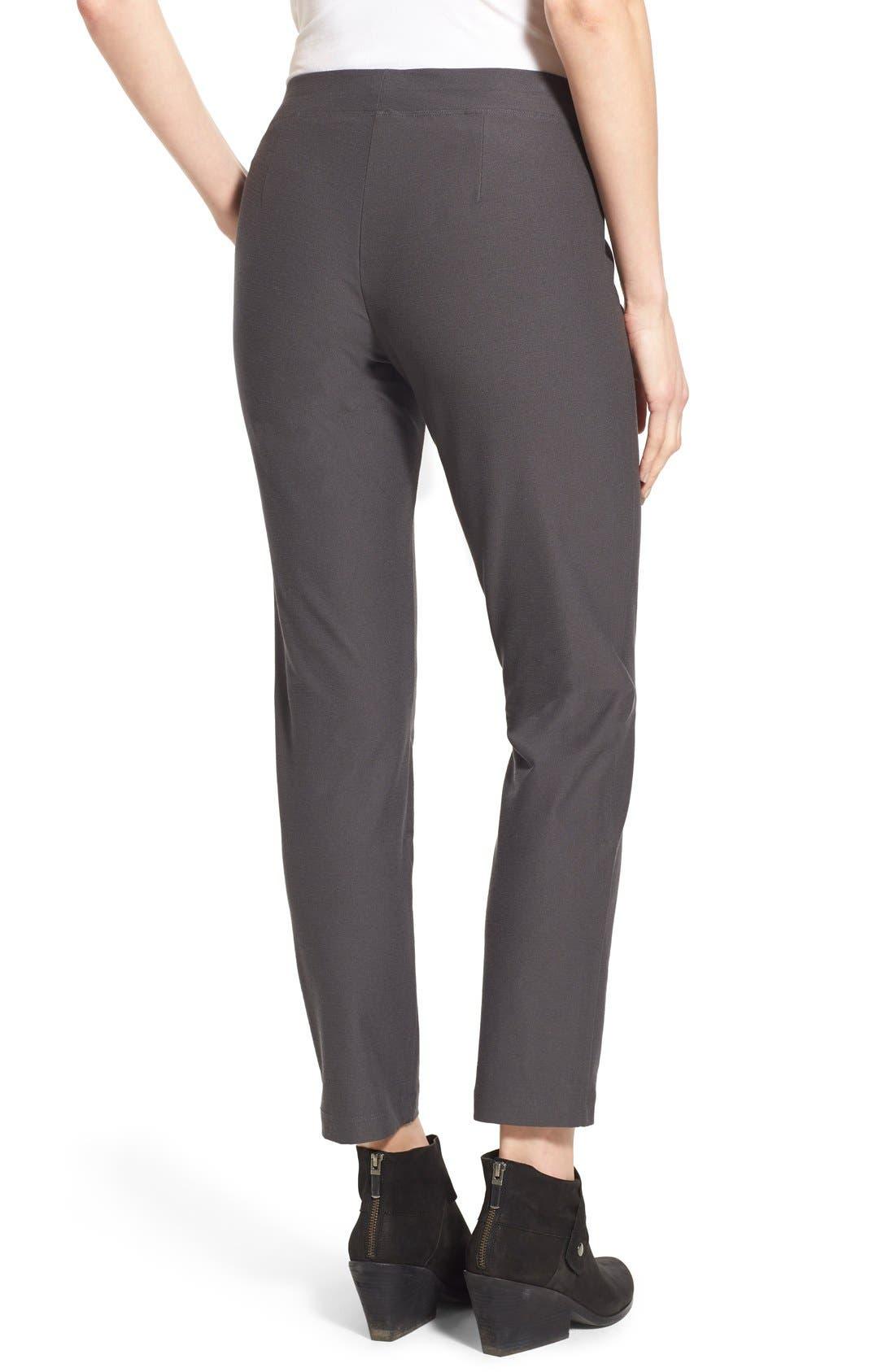 Alternate Image 2  - Eileen Fisher Stretch Crepe Slim Ankle Pants (Regular & Petite)