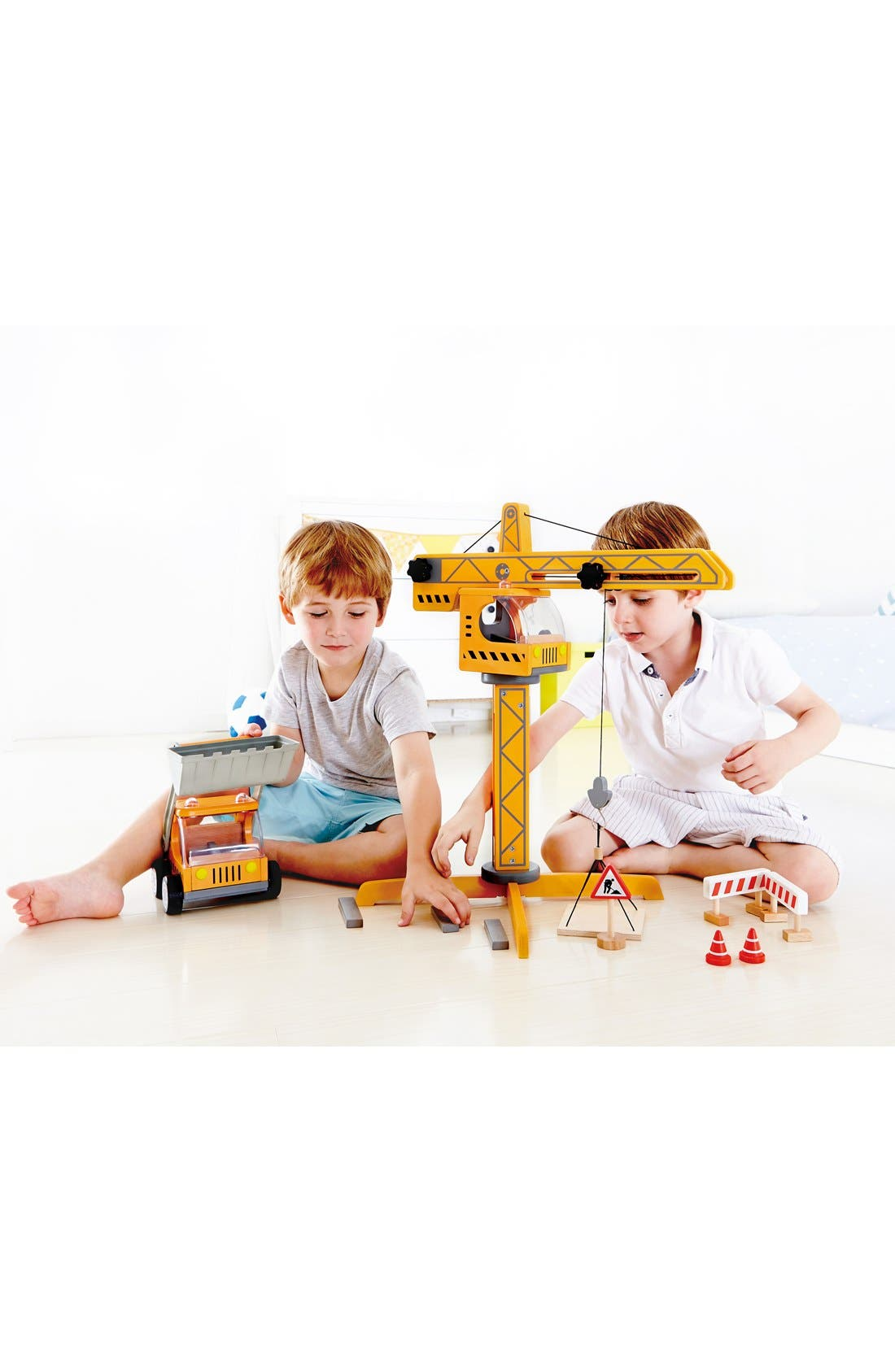 Alternate Image 3  - Hape Crane Lift Toy