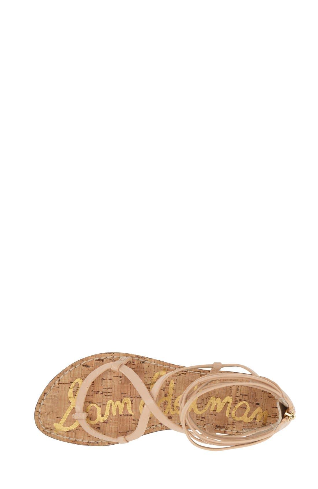 'Ginette' Sandal,                             Alternate thumbnail 3, color,                             Natural Naked Leather