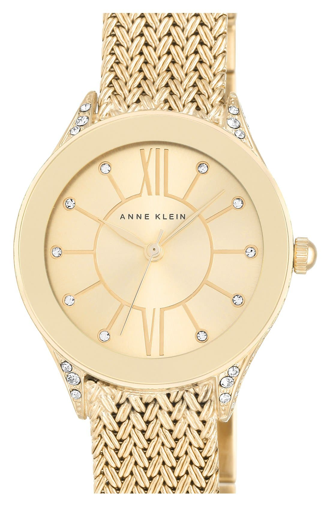 Alternate Image 1 Selected - Anne Klein Mesh Strap Watch, 30mm