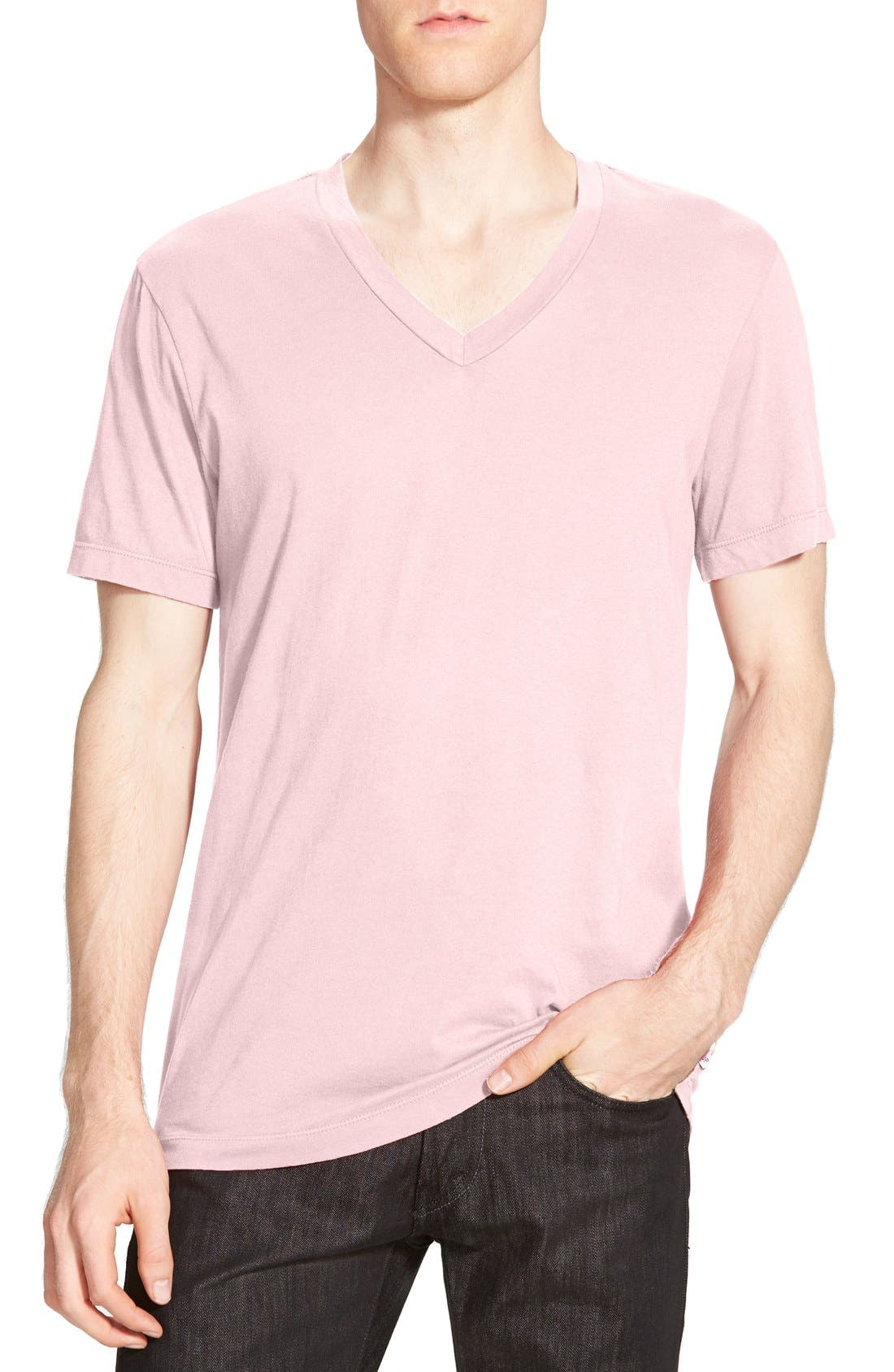 Short Sleeve V-Neck T-Shirt,                         Main,                         color, Zephyr