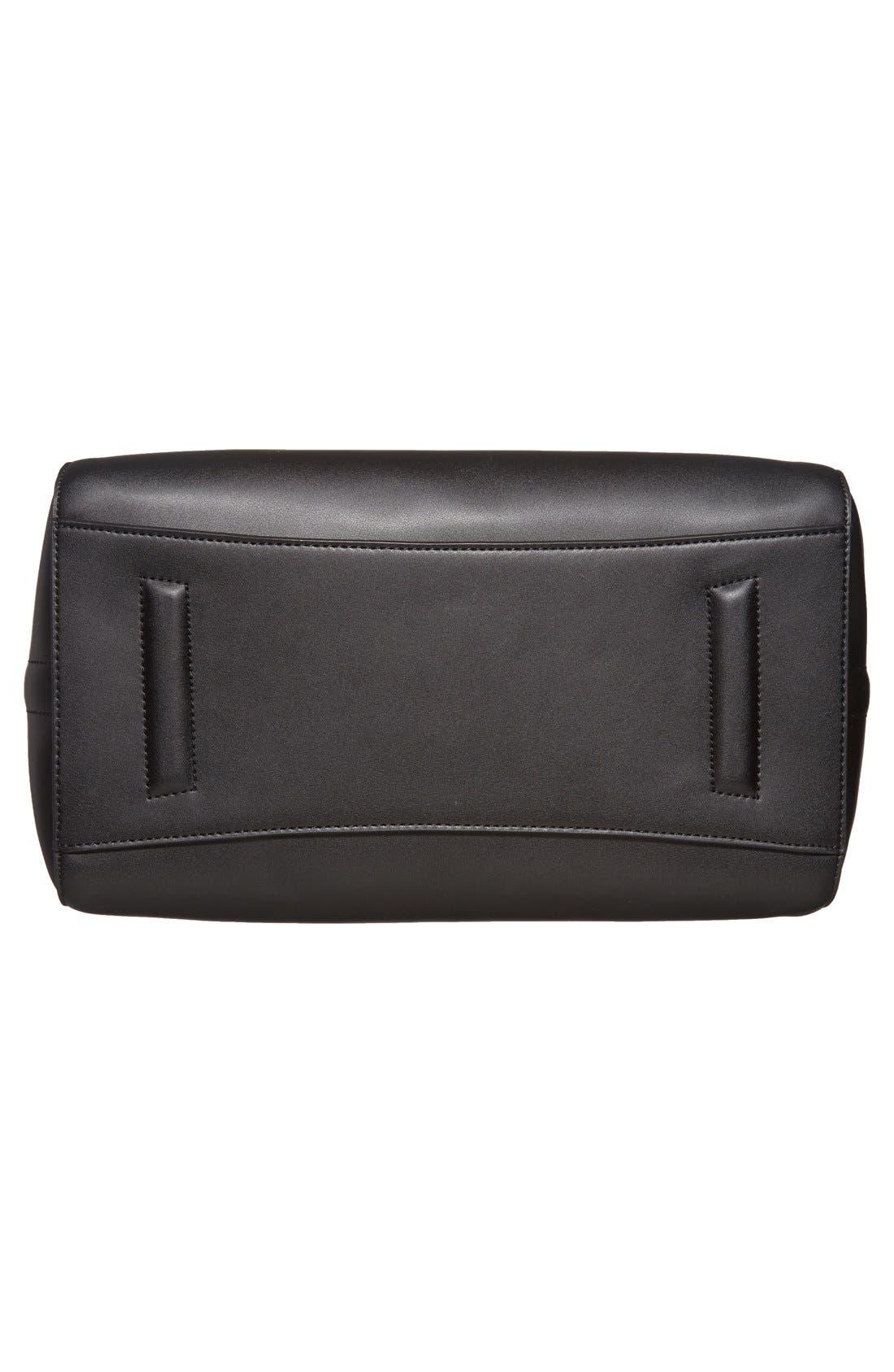 'Medium Antigona' Leather Satchel,                             Alternate thumbnail 6, color,                             Black