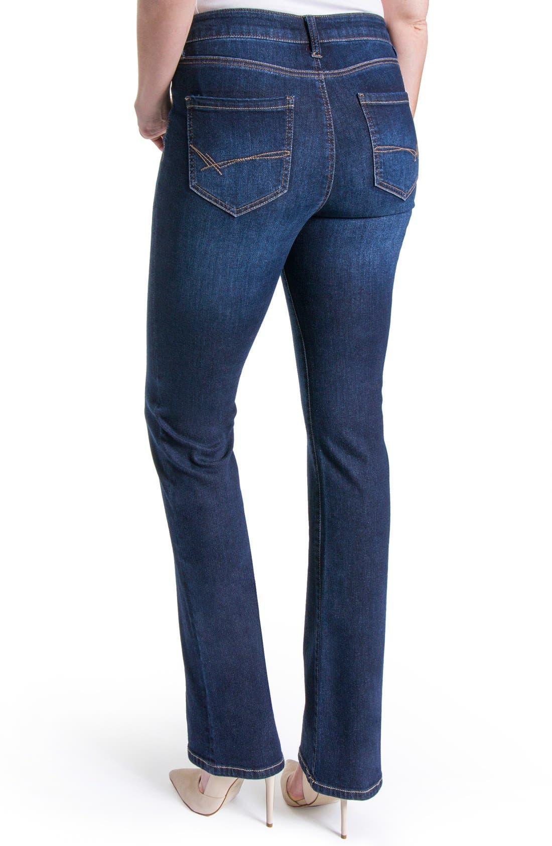 Lucy Stretch Bootcut Jeans,                             Alternate thumbnail 4, color,                             Vintage Super Dark