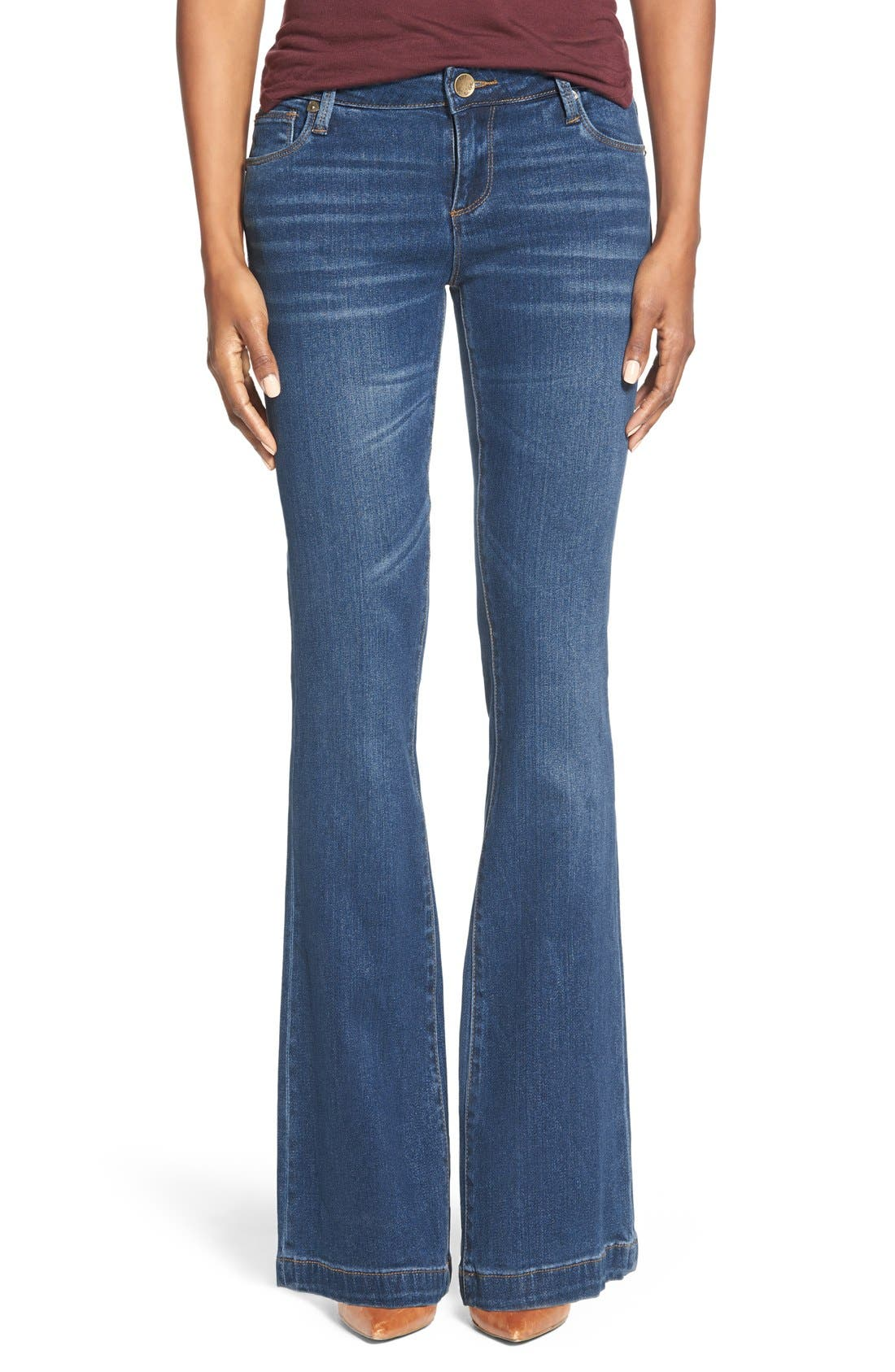 Main Image - KUT from the Kloth 'Chrissy' Stretch Flare Leg Jeans (Inclusion)