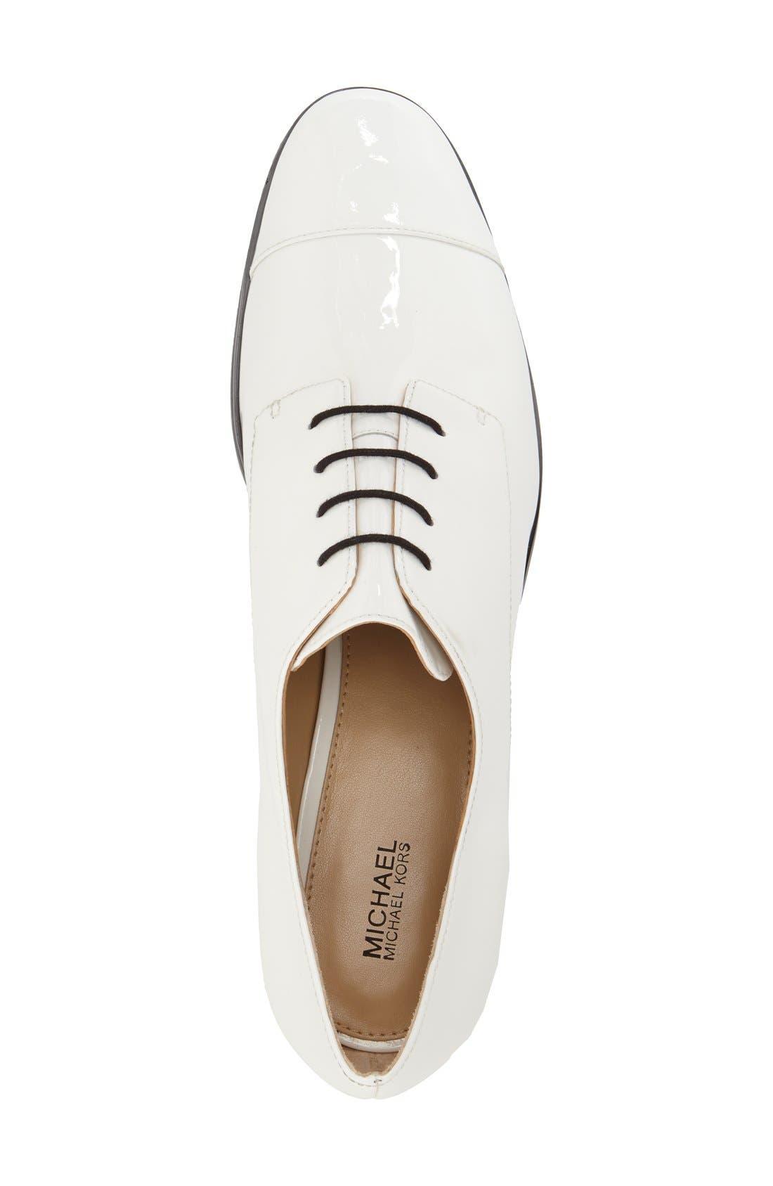 Alternate Image 3  - MICHAEL Michael Kors 'Pierce' Patent Cap Toe Oxford (Women)