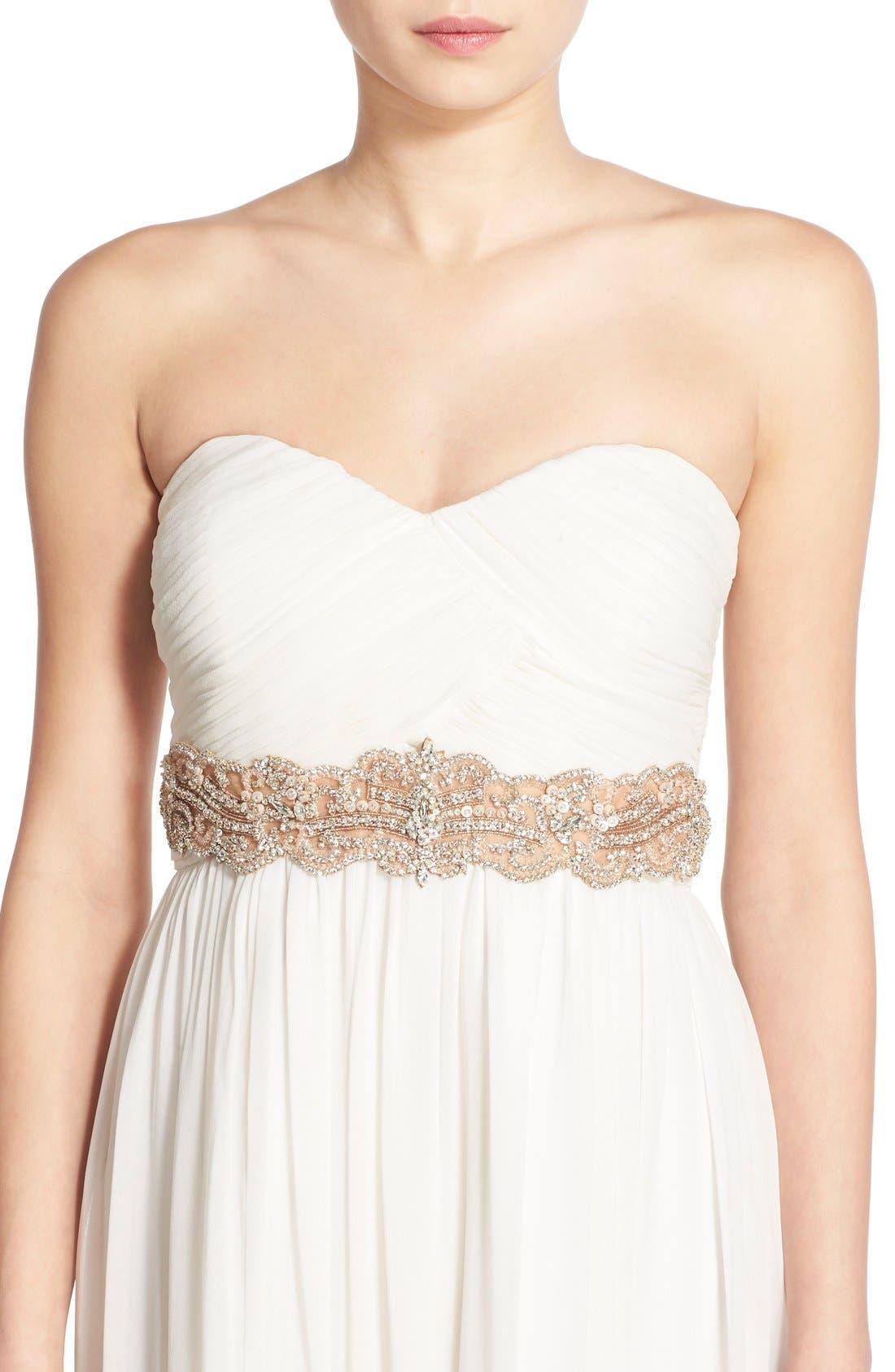 Alternate Image 1 Selected - Camilla Christine Wide Jeweled Belt
