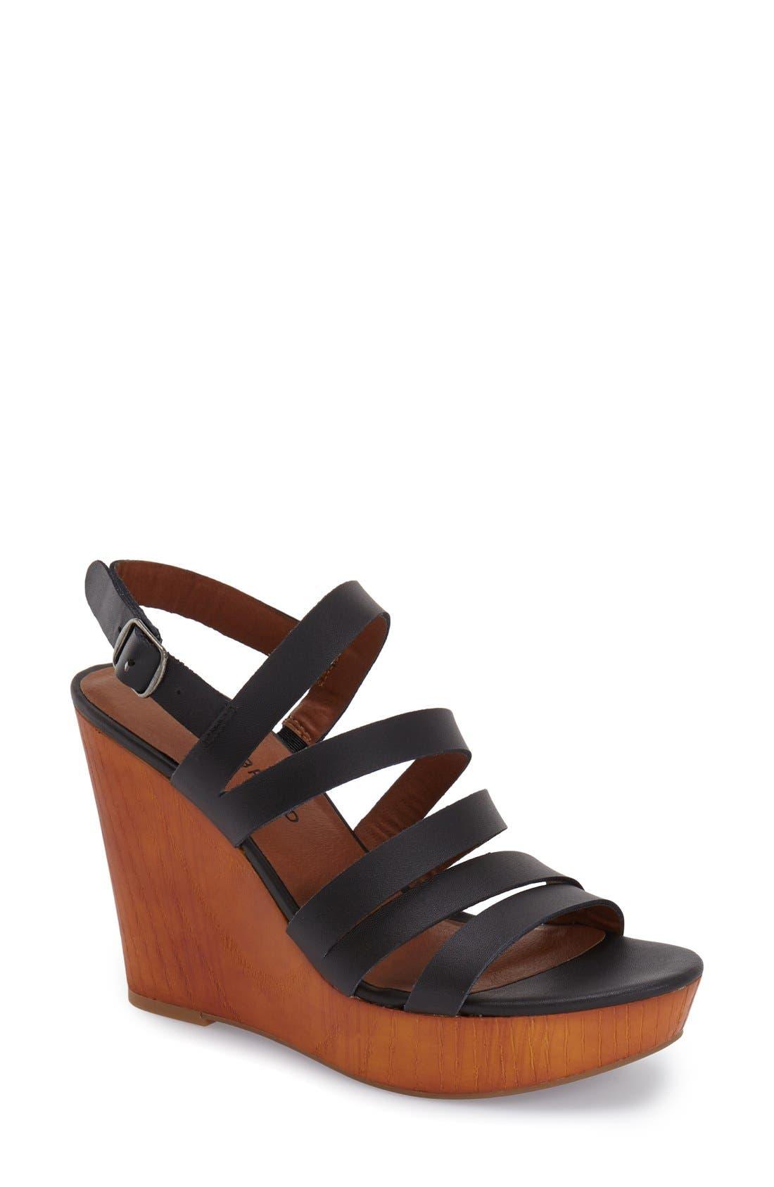 Alternate Image 1 Selected - Lucky Brand 'Larinaa' Wedge Sandal (Women)