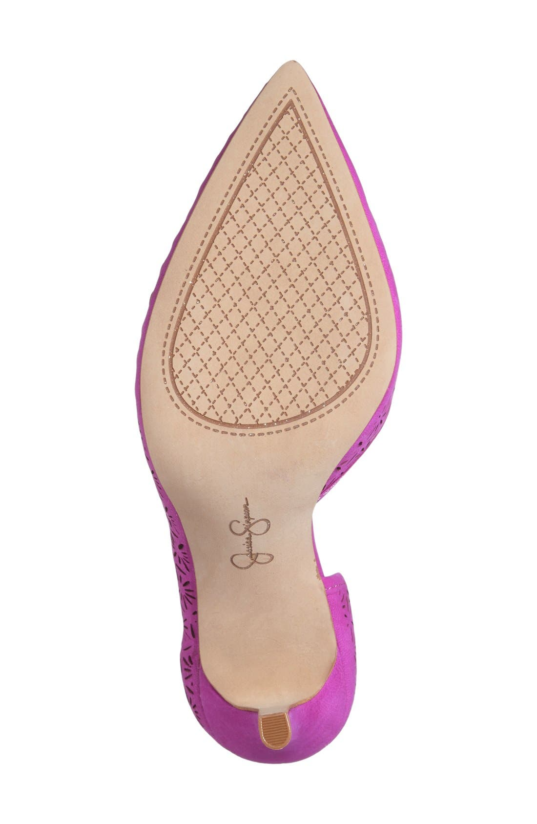 Alternate Image 4  - Jessica Simpson 'Claudette' Half d'Orsay Pump