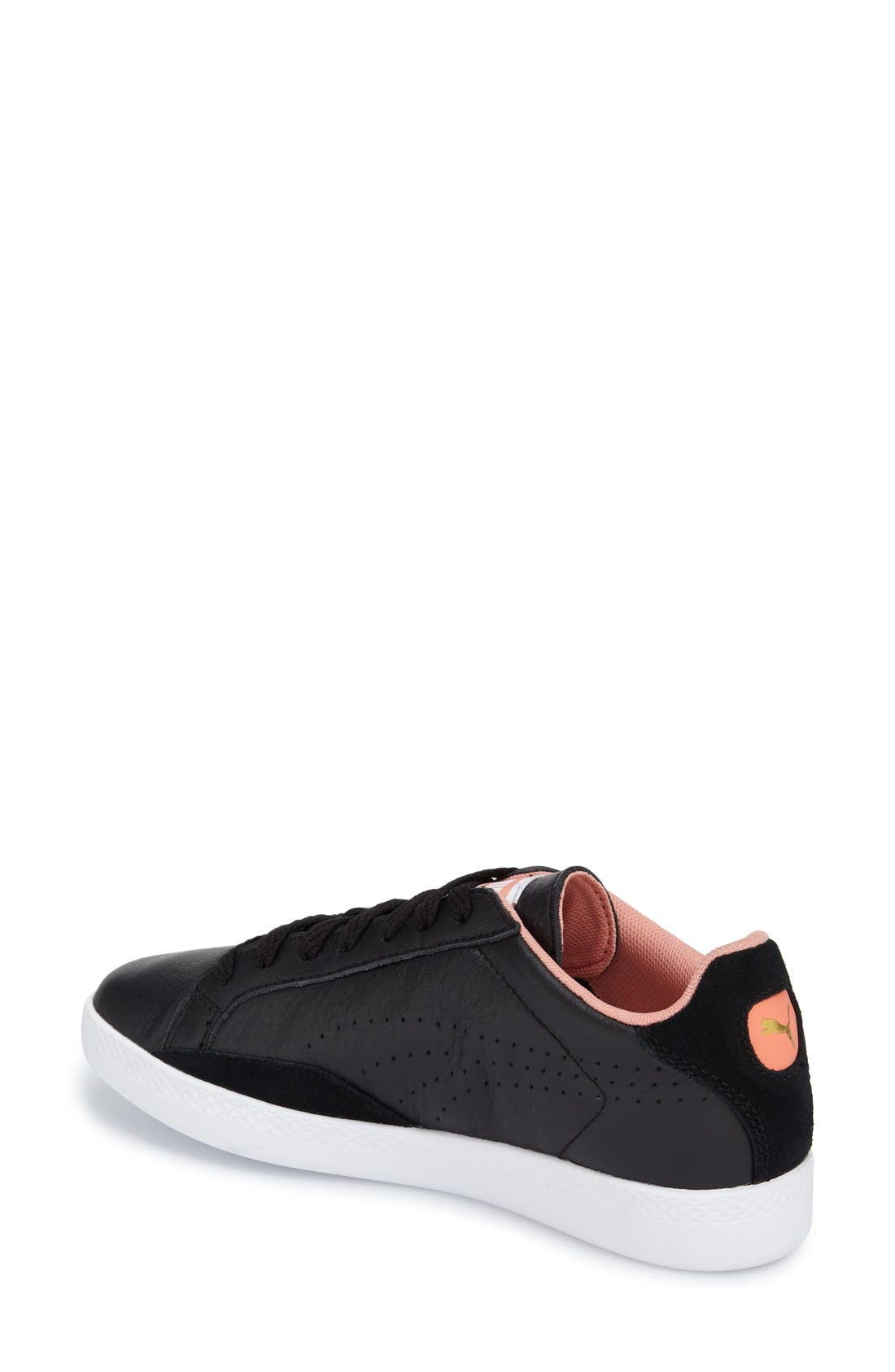 Alternate Image 2  - PUMA 'Match Lo - Basic Sport' Leather Sneaker (Women)