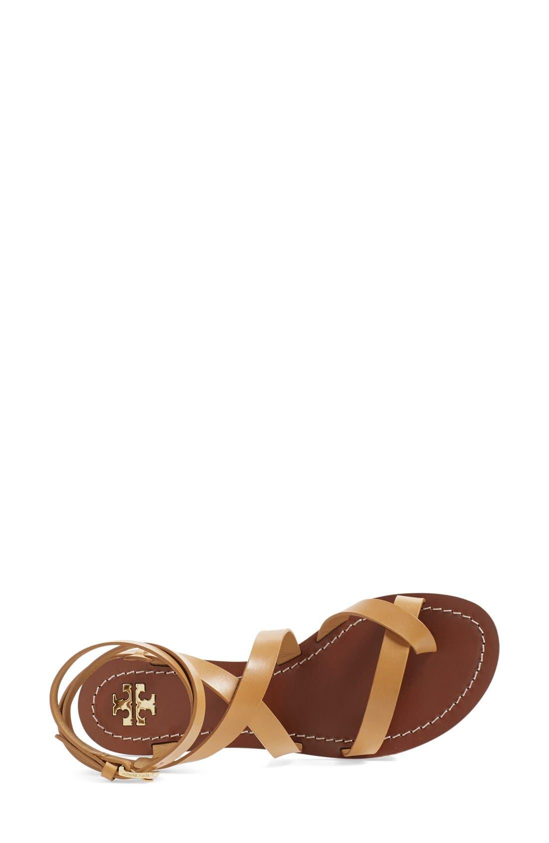 'Patos' Gladiator Sandal,                             Alternate thumbnail 3, color,                             Blond Manark Vachetta