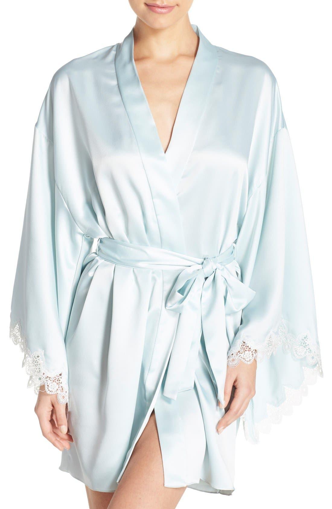 Main Image - Flora Nikrooz 'Dahlia' Charmeuse Robe