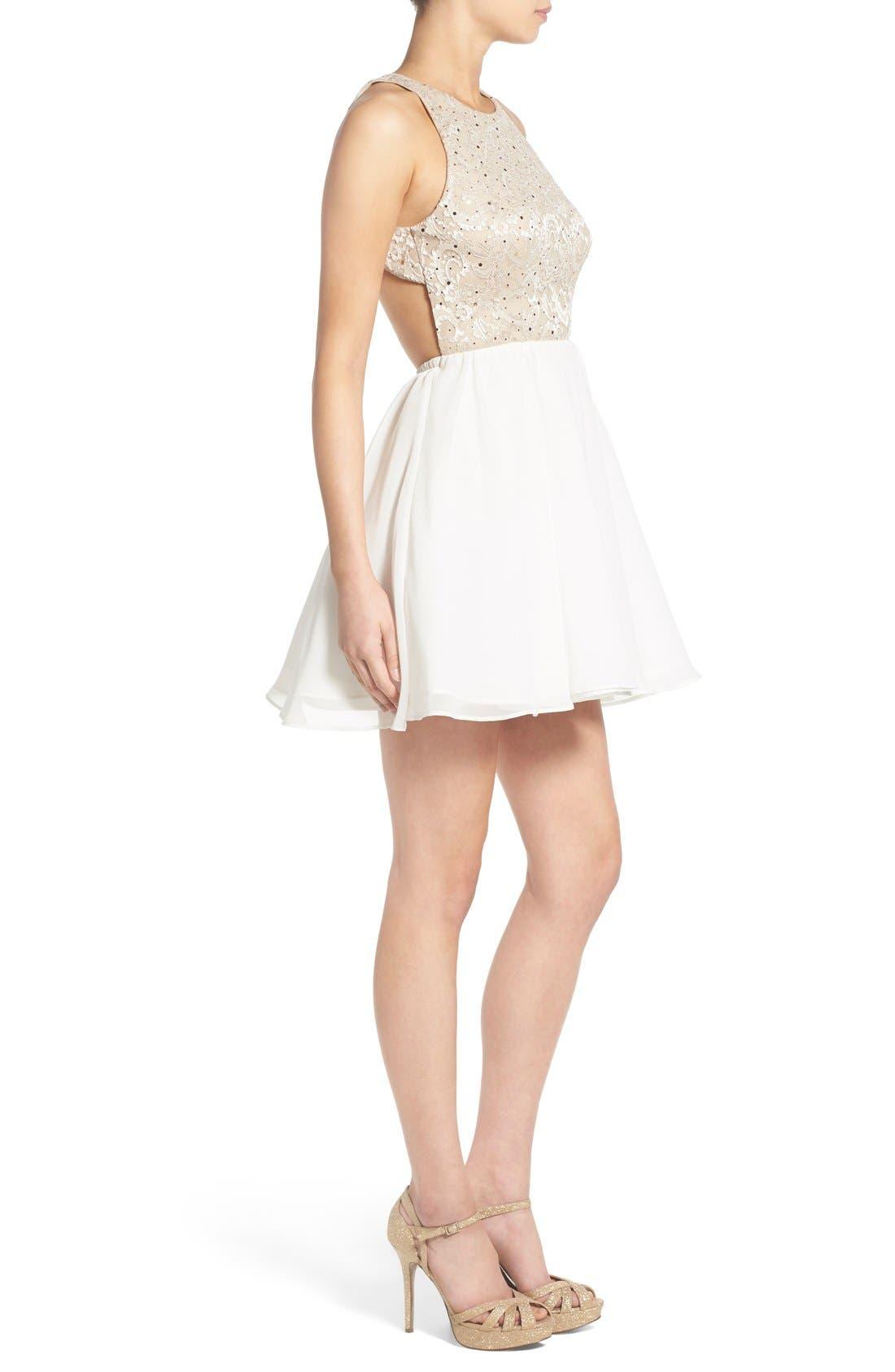 Alternate Image 3  - Dear Moon Sequin Bodice Skater Dress