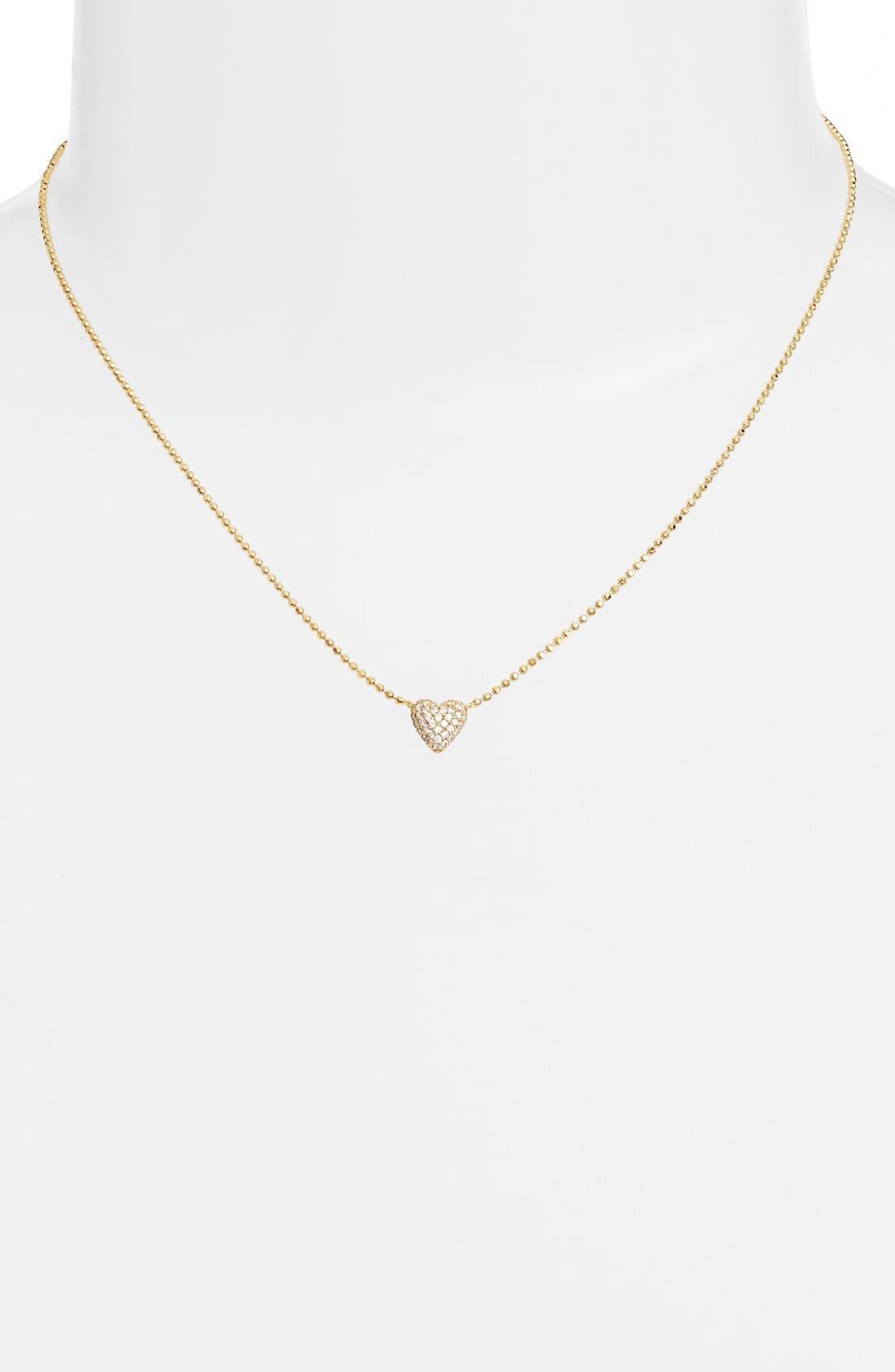 Alternate Image 2  - Nadri 'Valentine's Day' Heart Pendant Necklace