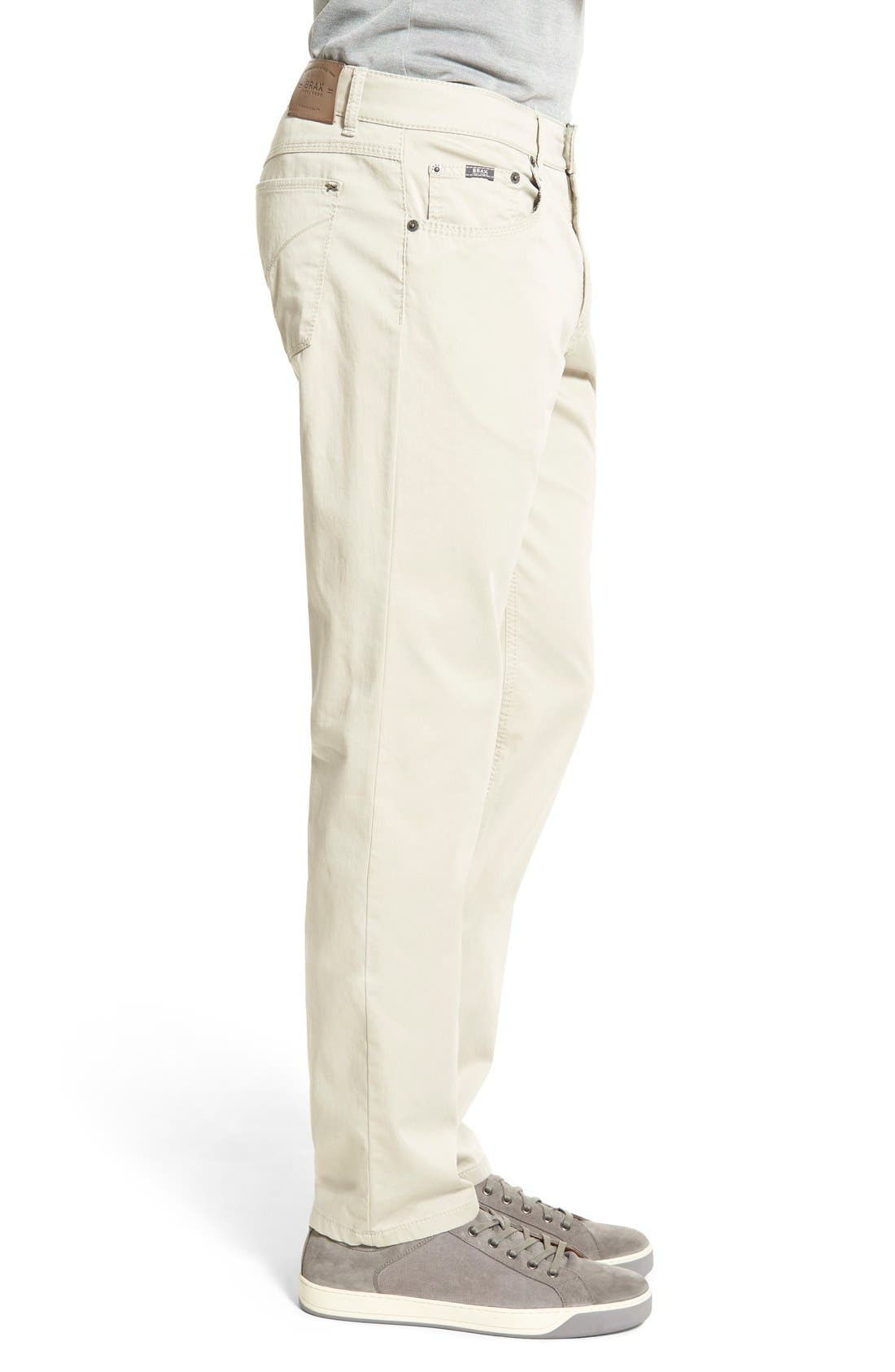 Flat Front Stretch Cotton Straight Leg Trousers,                             Alternate thumbnail 5, color,                             Paper