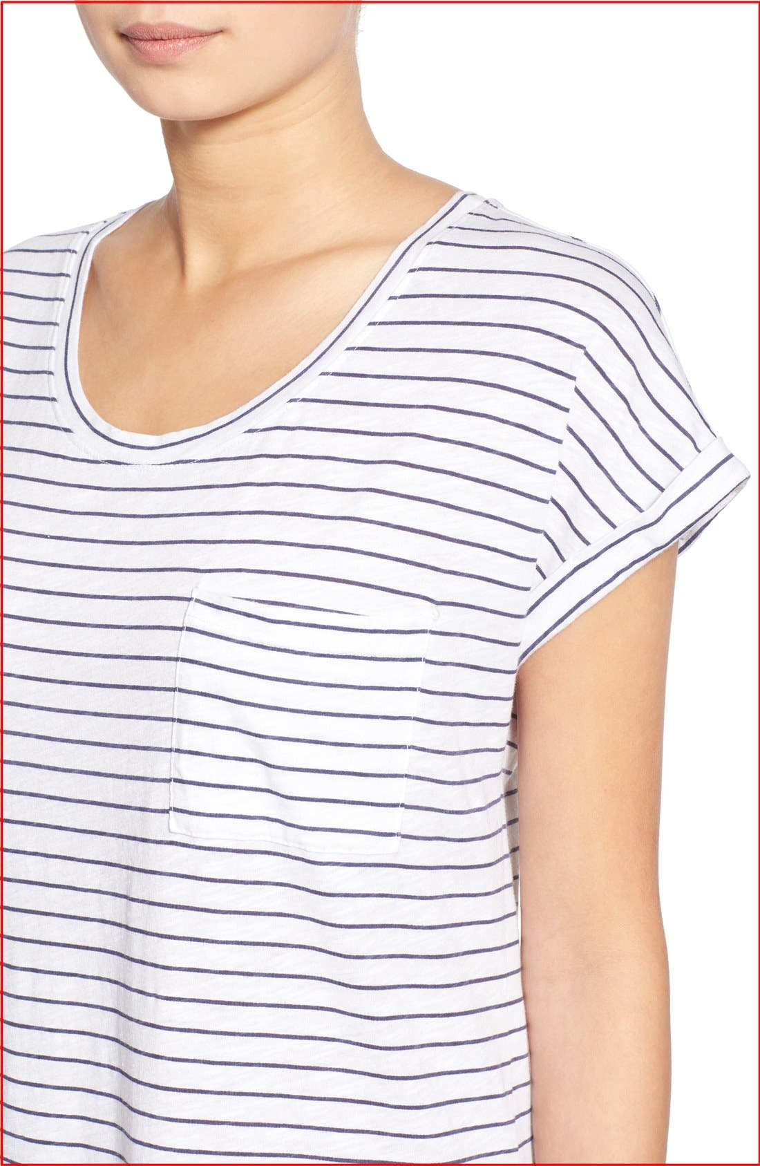 Alternate Image 4  - Sundry Stripe Short Sleeve Shift Dress