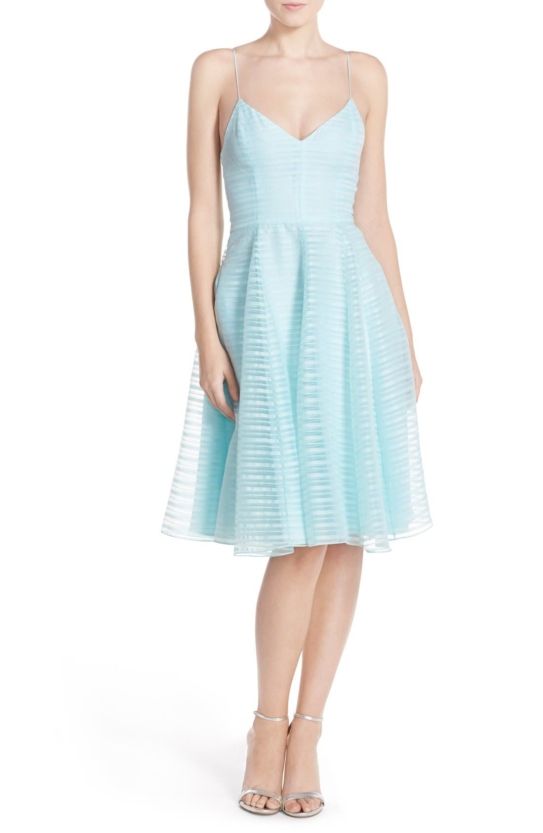 Alternate Image 4  - Halson Heritage Shadow Stripe Organza Dress