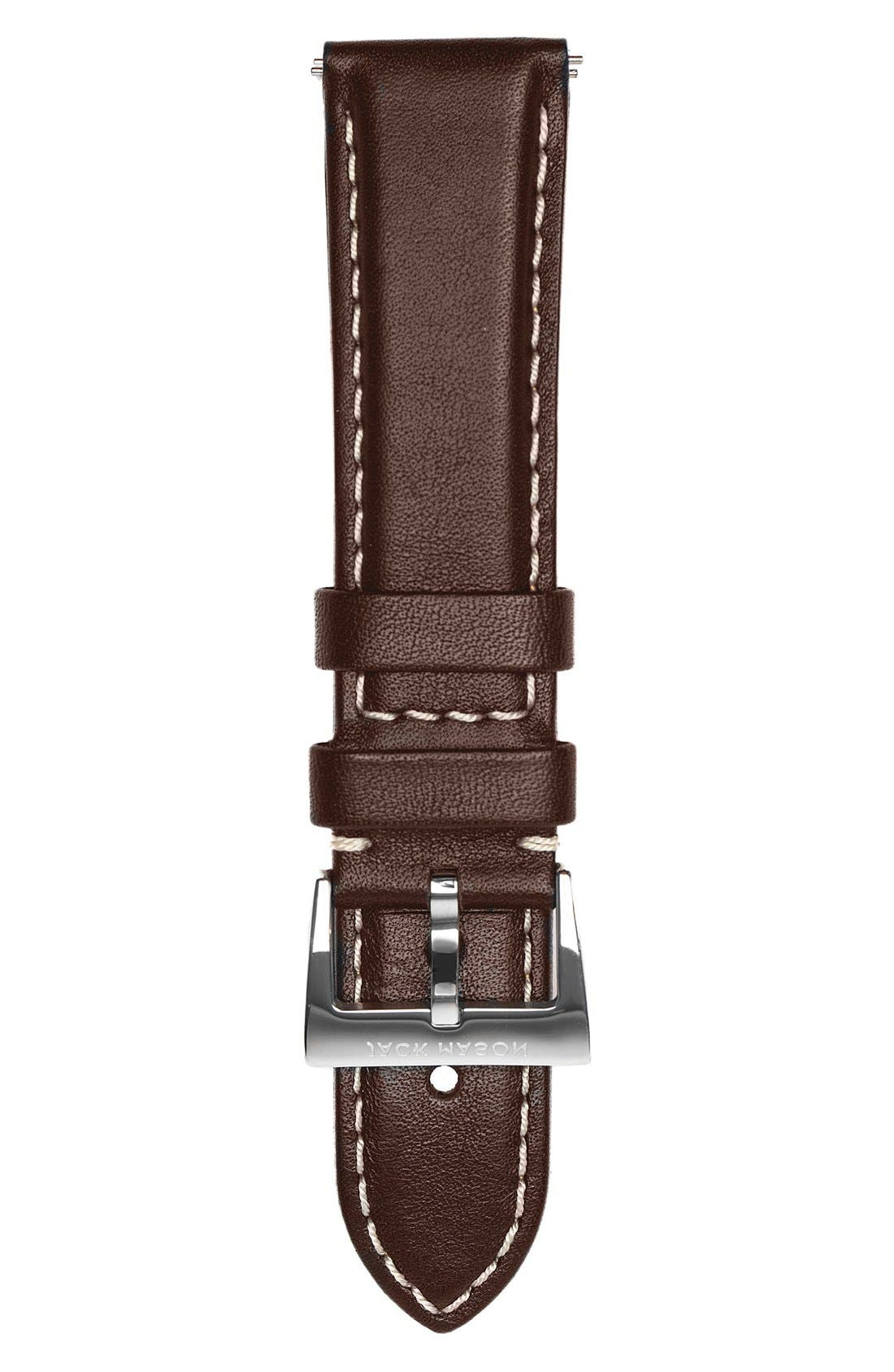 Alternate Image 1 Selected - Jack Mason Leather Watch Strap, 22mm