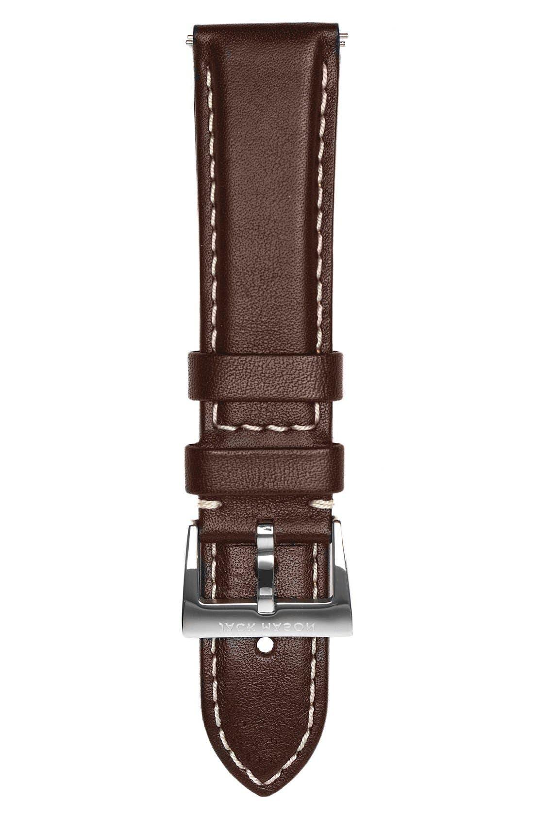 Main Image - Jack Mason Leather Watch Strap, 22mm
